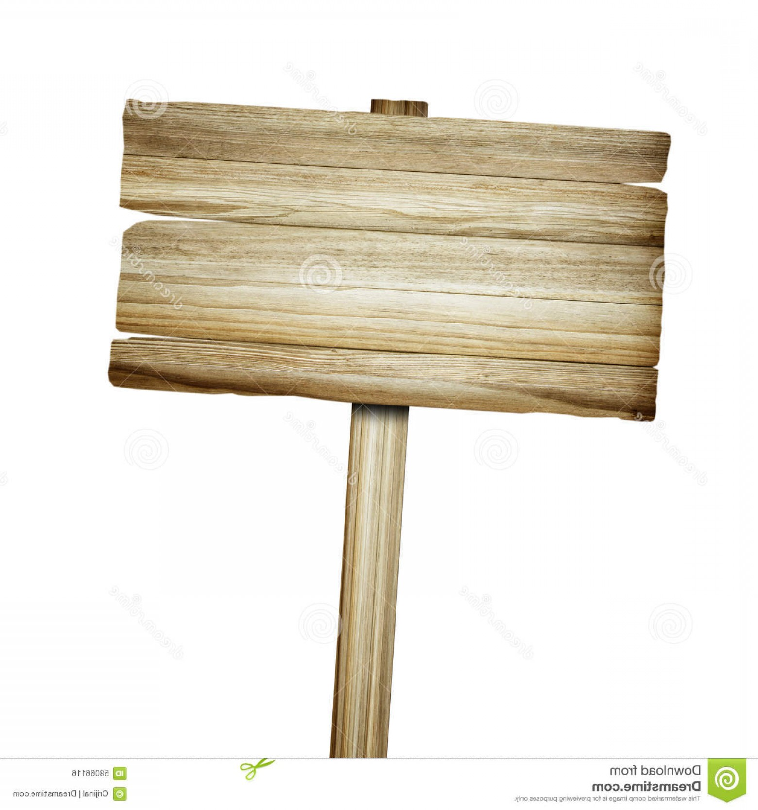 Old Wood Sign Vector: Stock Photo Wooden Sign Isolated White Wood Old Planks Sign Image