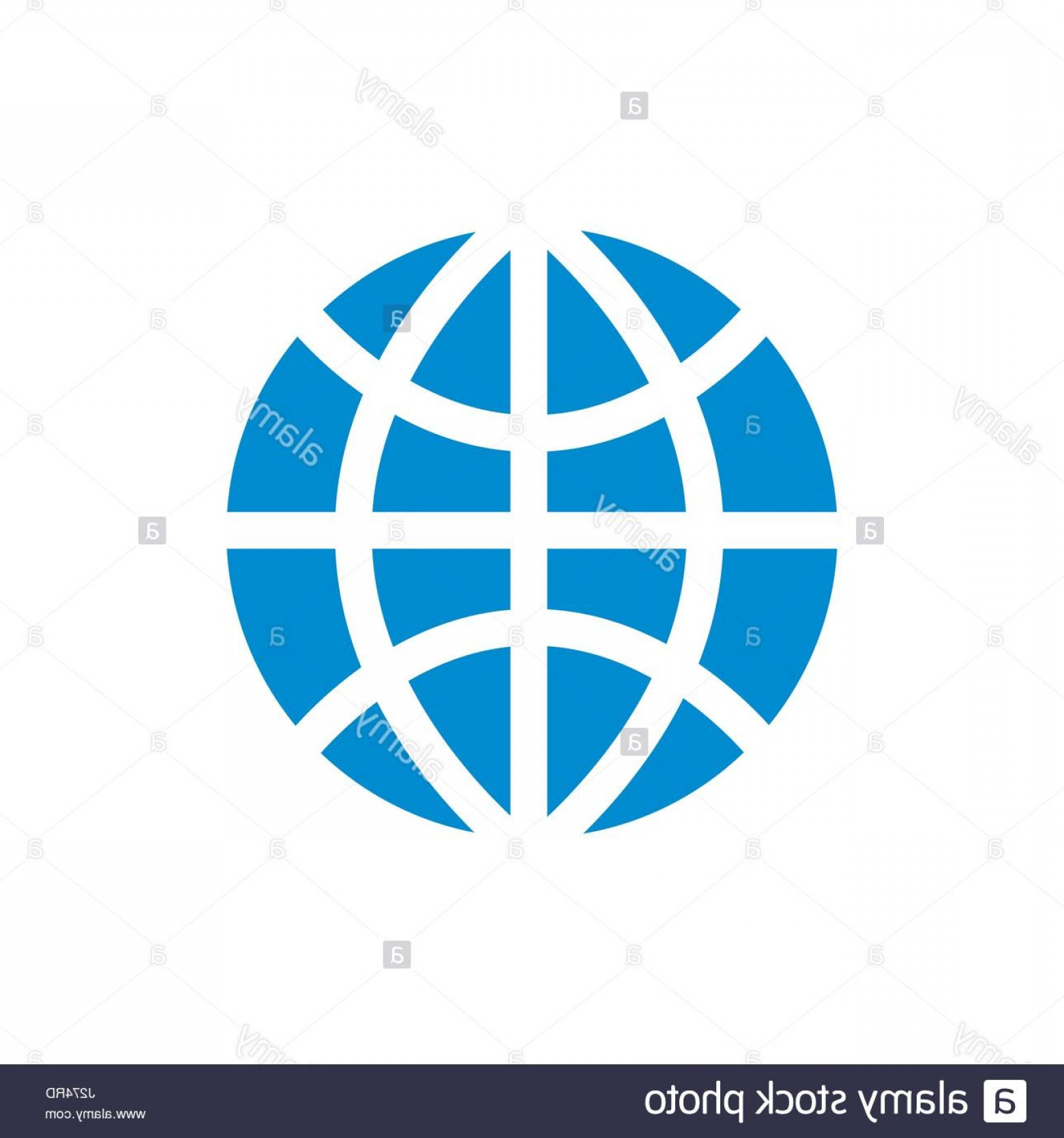 World Icon Vector Simple: Stock Photo World Globe Simple Blue Icon On White