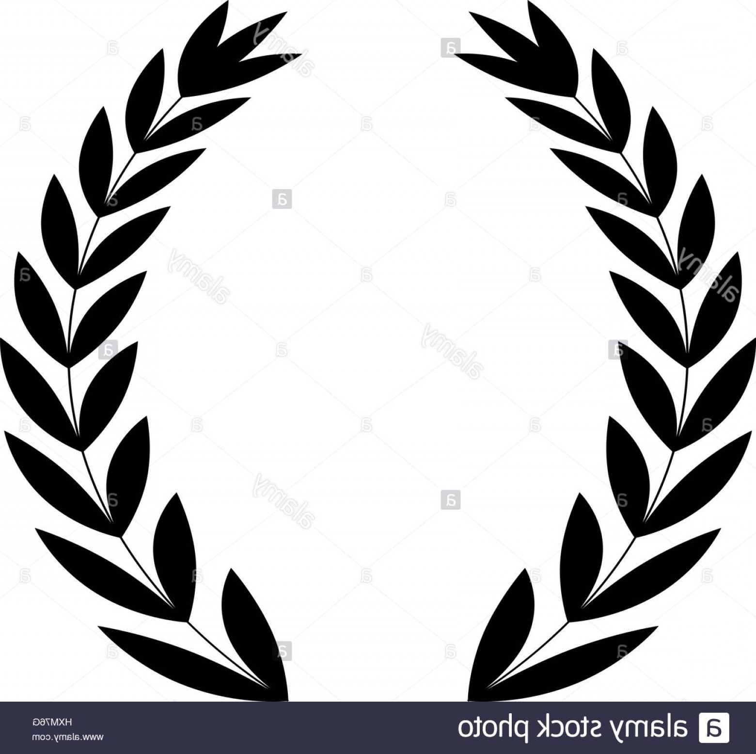 Vector Leaf Graphicd: Stock Photo Wreath Leaves Ornament Icon Icon Vector Illustration Graphic Design