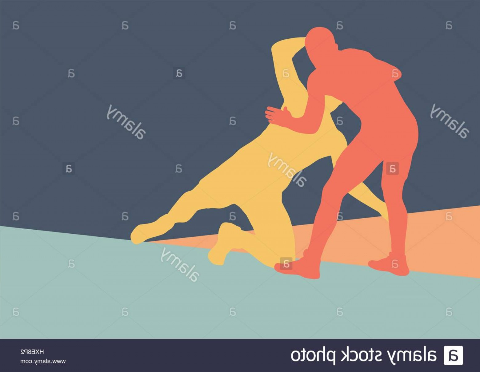 Vector Wrestling Audience: Stock Photo Wrestling Active Men Fight Action Greek Roman Sport Silhouette Vector