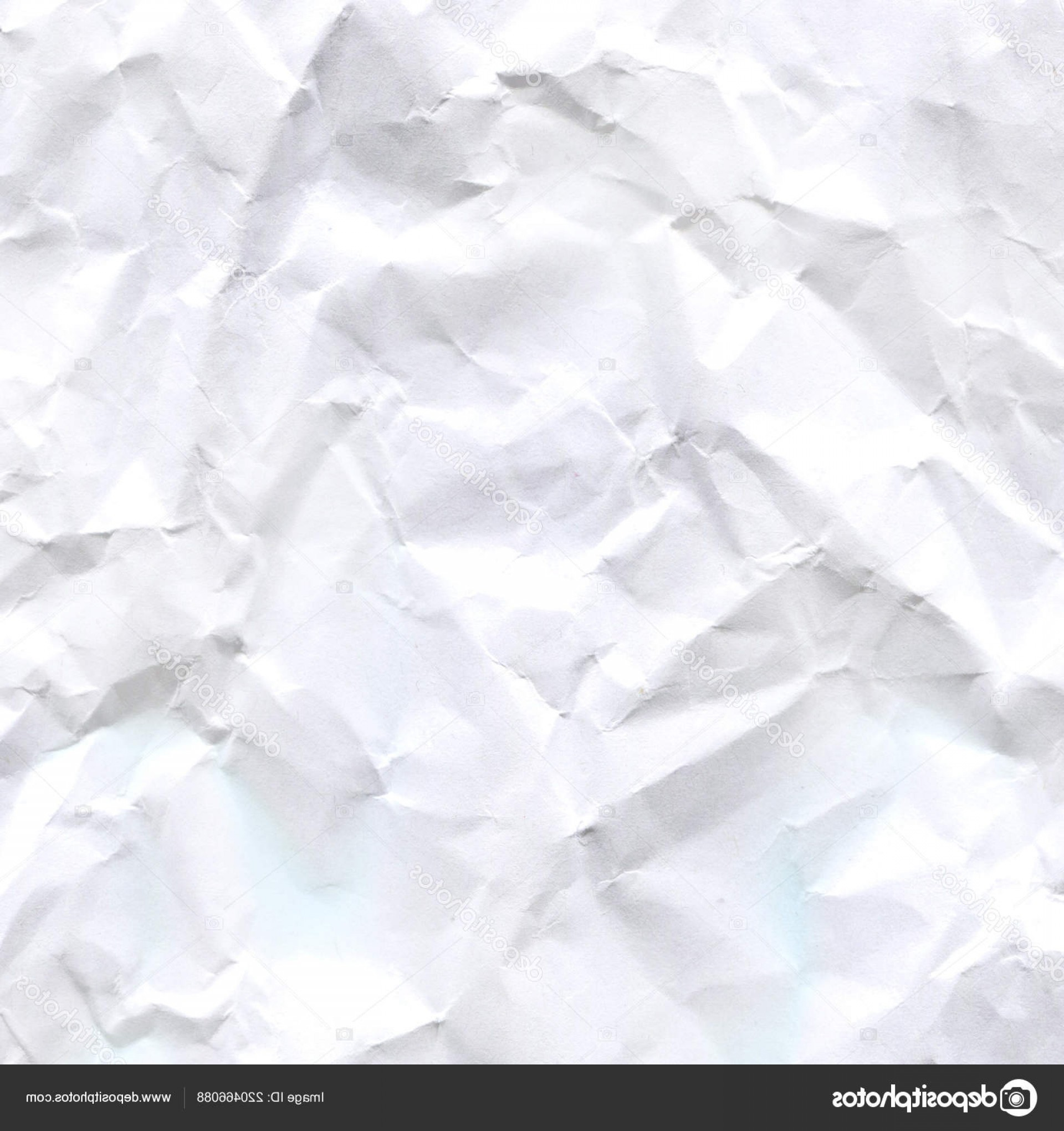 Crinkled Paper Vector: Stock Photo Wrinkled Crumpled Paper Texture Background