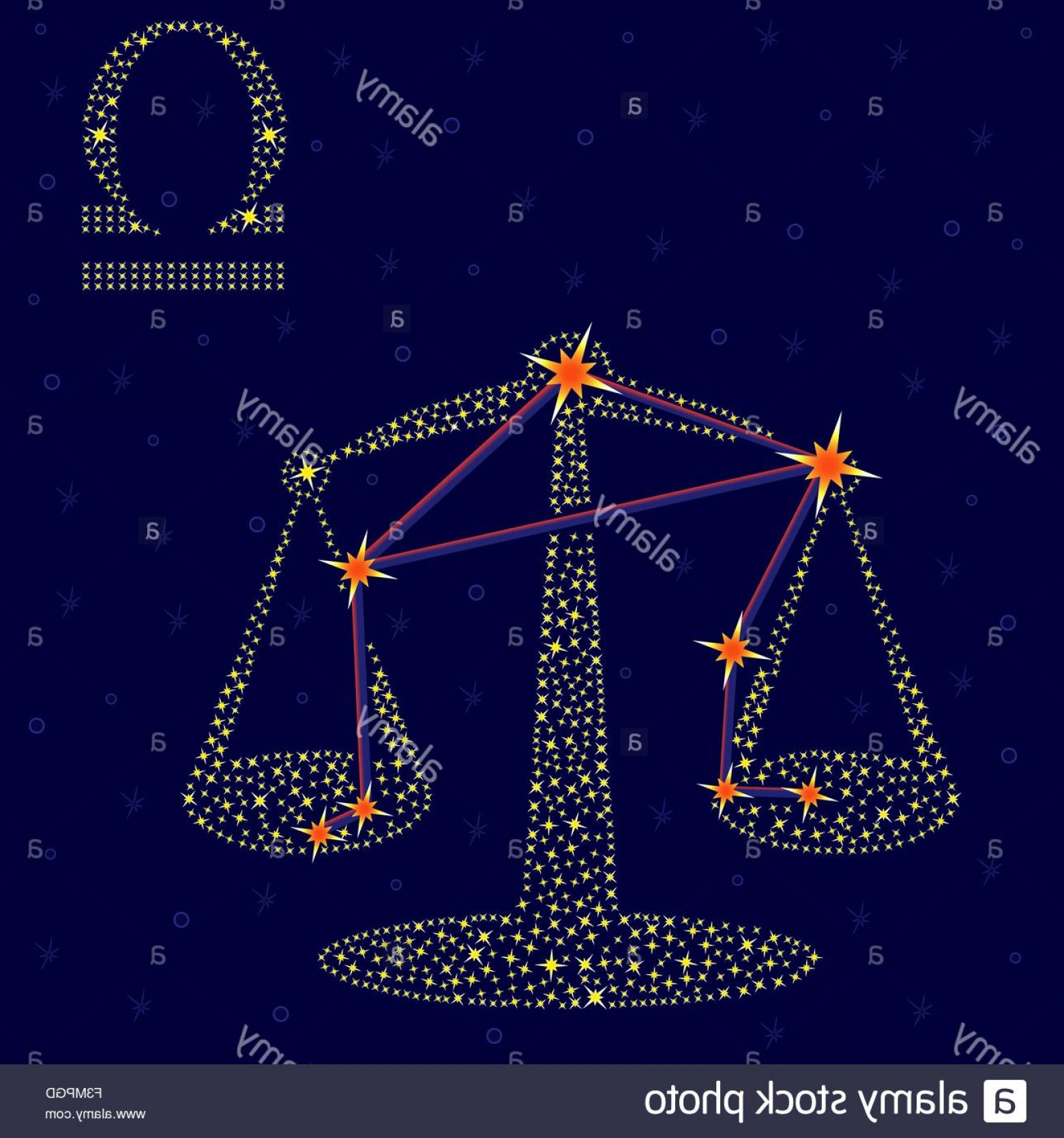 October Zodiac Constellation Vector: Stock Photo Zodiac Sign Libra On A Background Of The Starry Sky With The Scheme