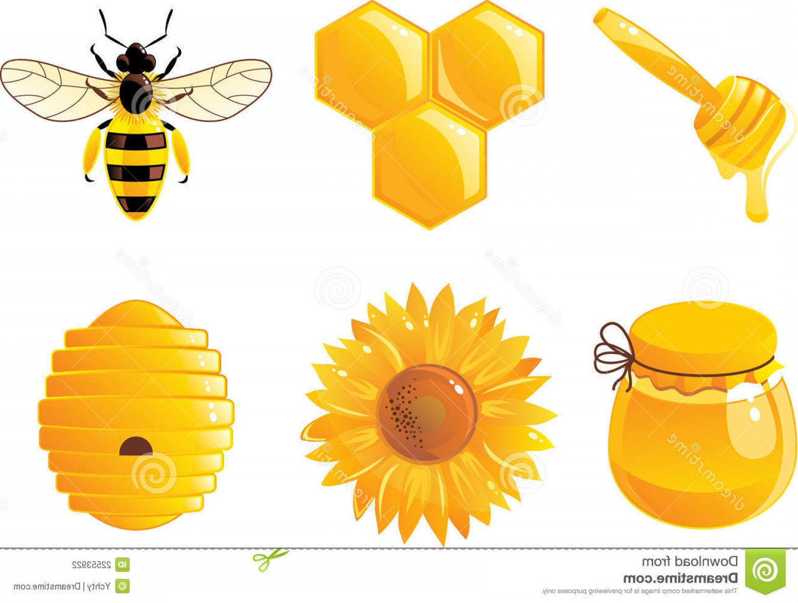Vector Bee Icon: Stock Photography Bee Honey Icons Vector Image