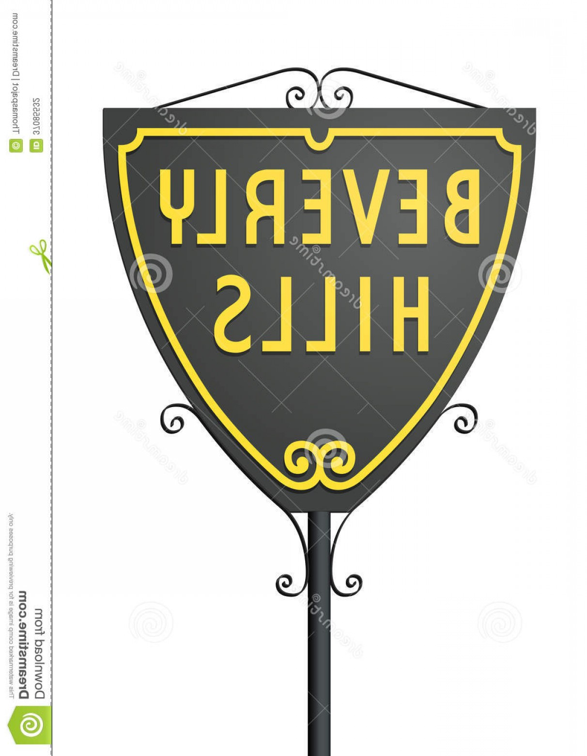 Hollywood Hills Vector: Stock Photography Beverly Hills Sign Vector Illustration Isolated Road Image