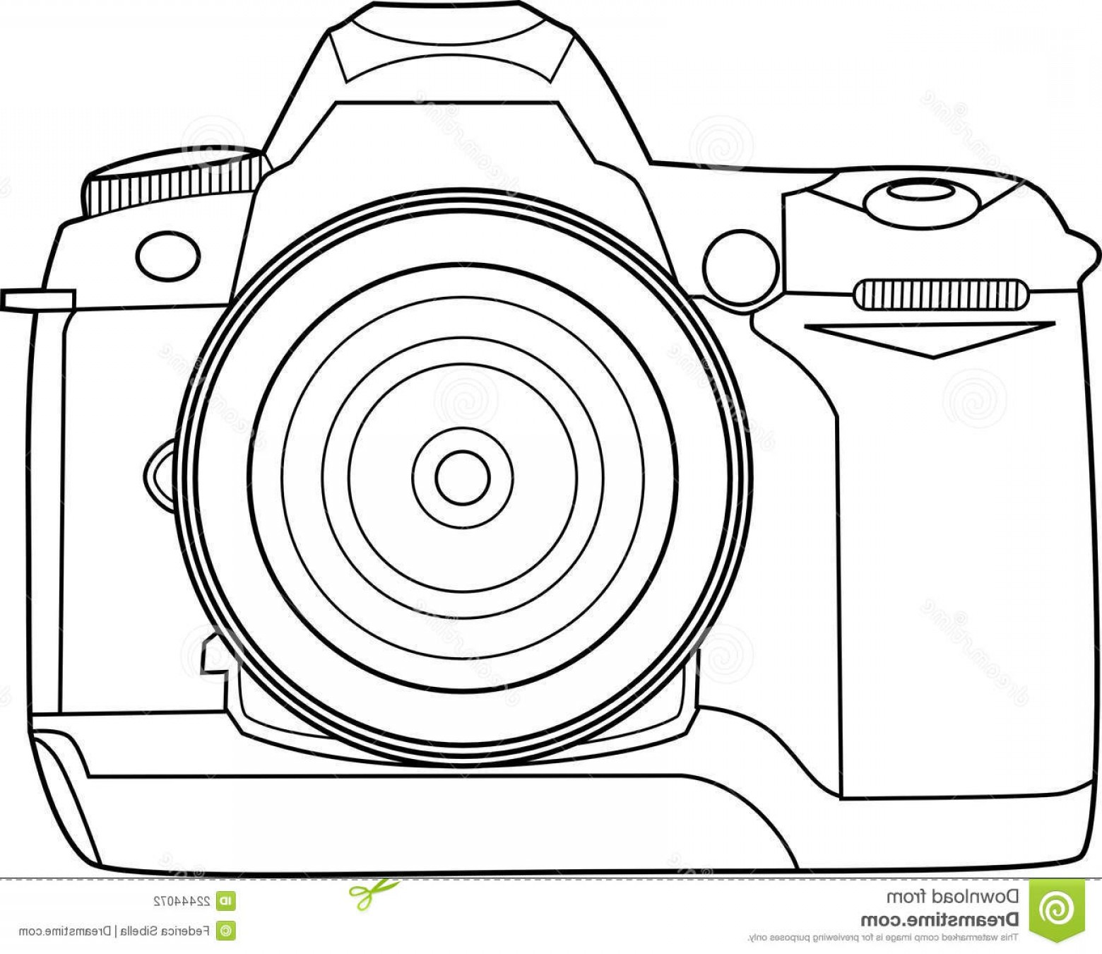 Camera Outline Vector Graphic: Stock Photography Camera Vector Outline Image