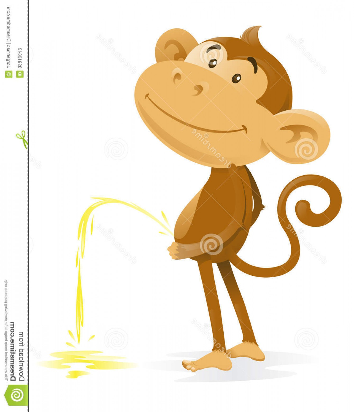Pee On Clip Art Vector Graphic: Stock Photography Cheeky Monkey Takes Pee Illustration Very Who Has Been Caught Short Has Had To Have Wee Image