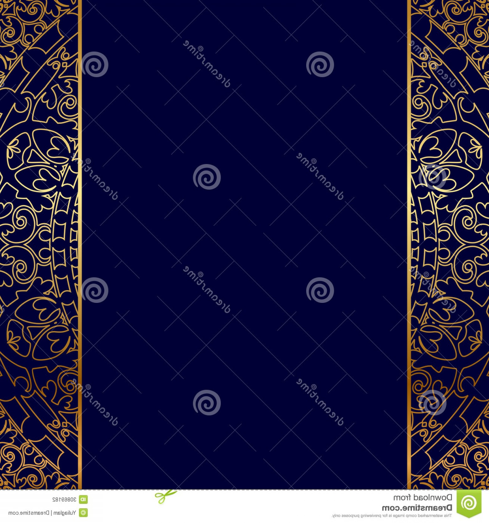 Blue And Gold Border Vector: Stock Photography Gold Ornate Border Vector Blue Image