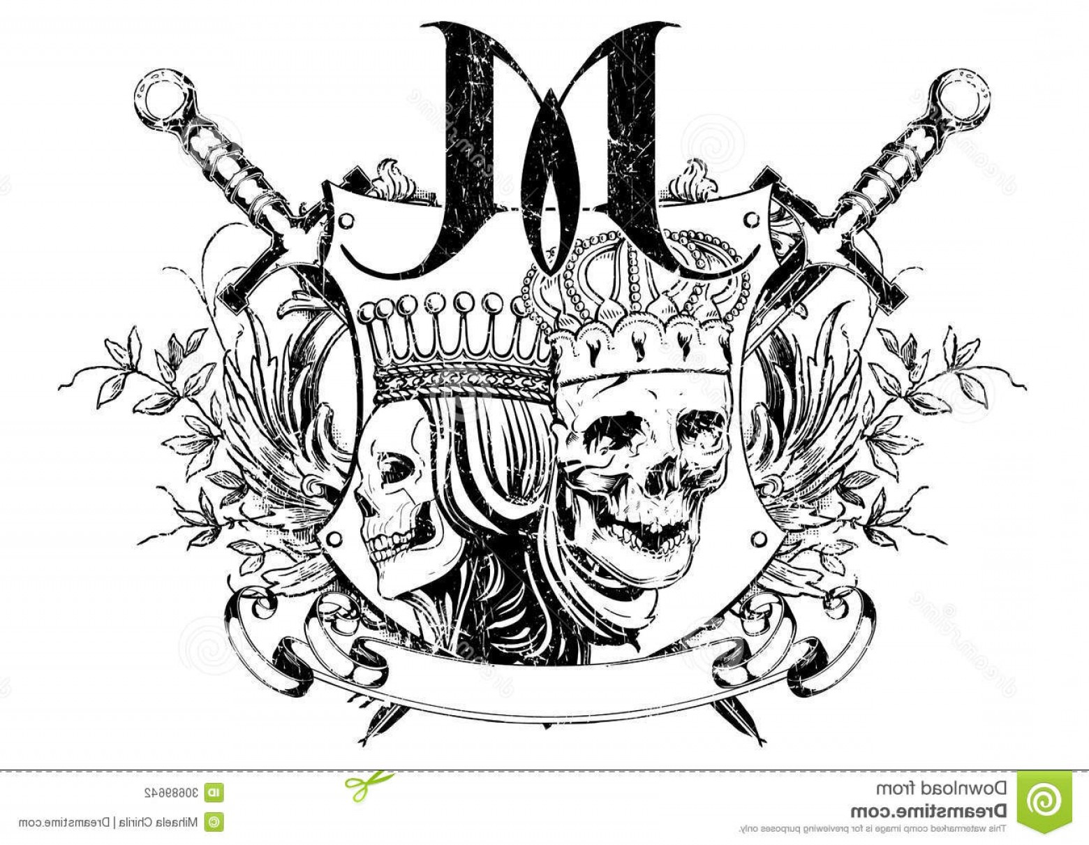 King And Queen Vector: Stock Photography Kings Queens Vector Illustration Ideal Printing Apparel Clothes Image