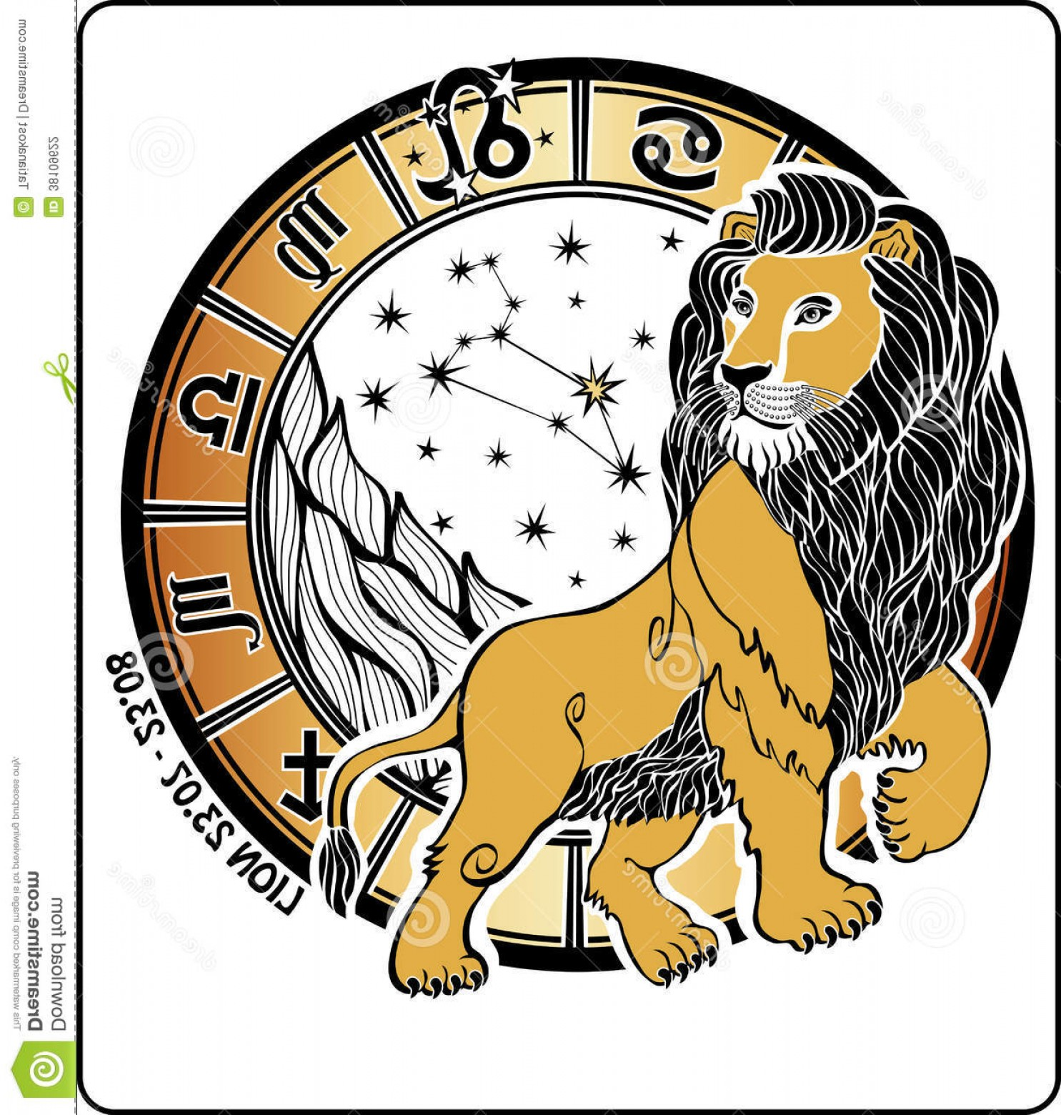 Leo Symbol Zodiac Vector: Stock Photography Leo Zodiac Sign Horoscope Circle Vector Illustrati One Lion Symbols All Signs White Background Graphic Image