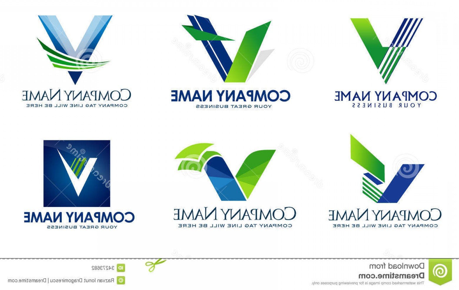 V Logo Vector: Stock Photography Letter V Logo Illustration Representing Collection Can Be Used Business Financial Institutions Have Their Image