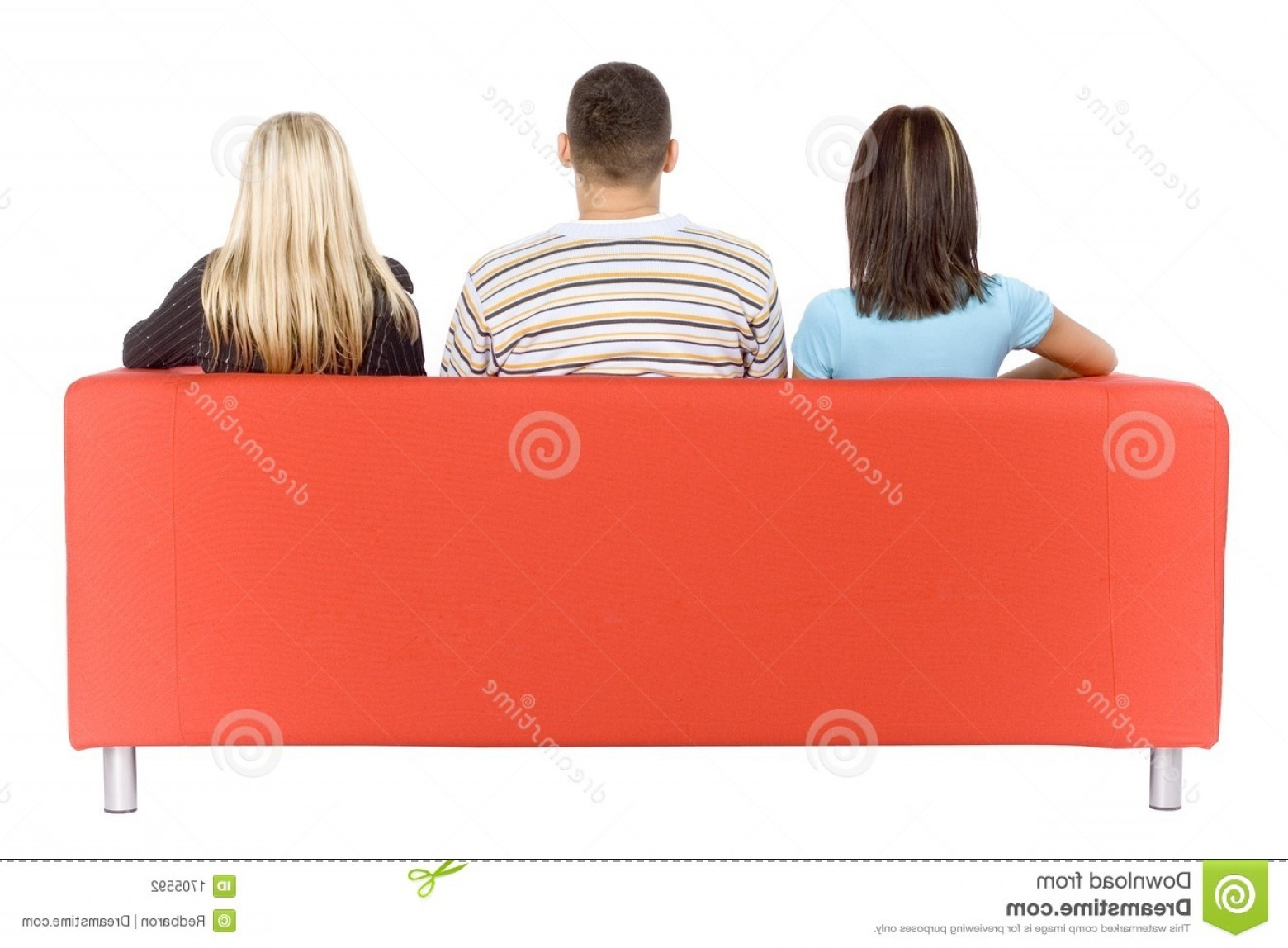 Back Of The Couch Vector: Stock Photography Man Two Women Couch Back View Image
