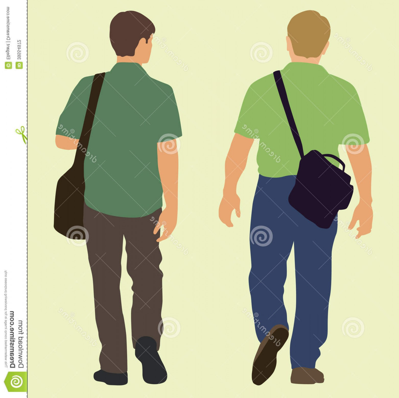 Walking Away Vector: Stock Photography Men Walking Away Carrying Bags Walk Image