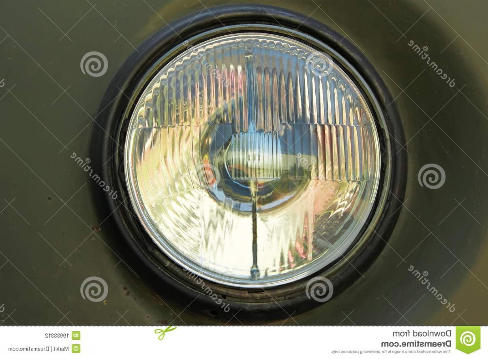 Vector Round Headlight: Stock Photography Old Car Round Headlight Image