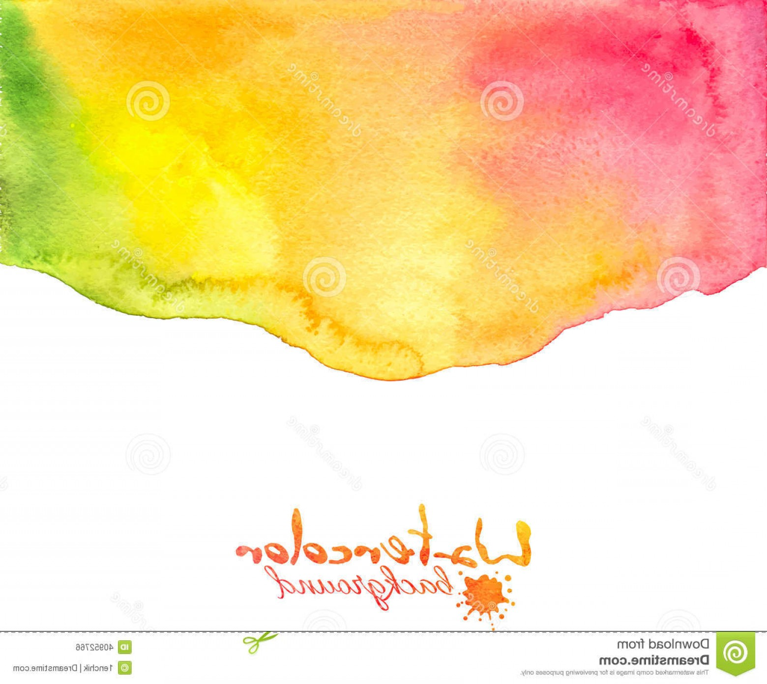 Watercolor Vector Background Free: Stock Photography Orange Red Watercolor Vector Background Abstract Image