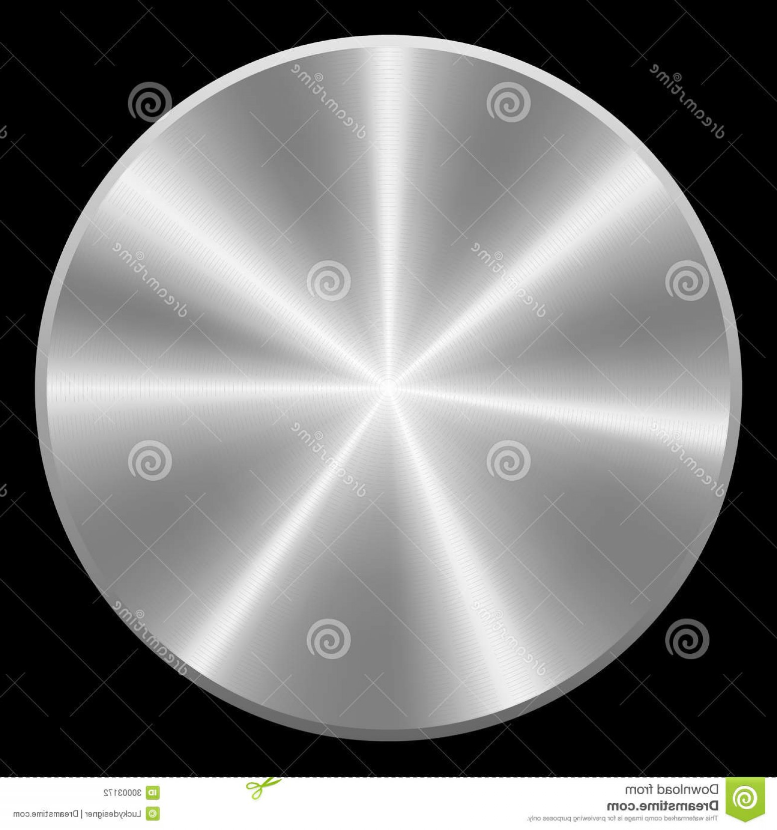 Metal Button Vector: Stock Photography Realistic Brushed Metal Button Vector Illustration Isolated Image