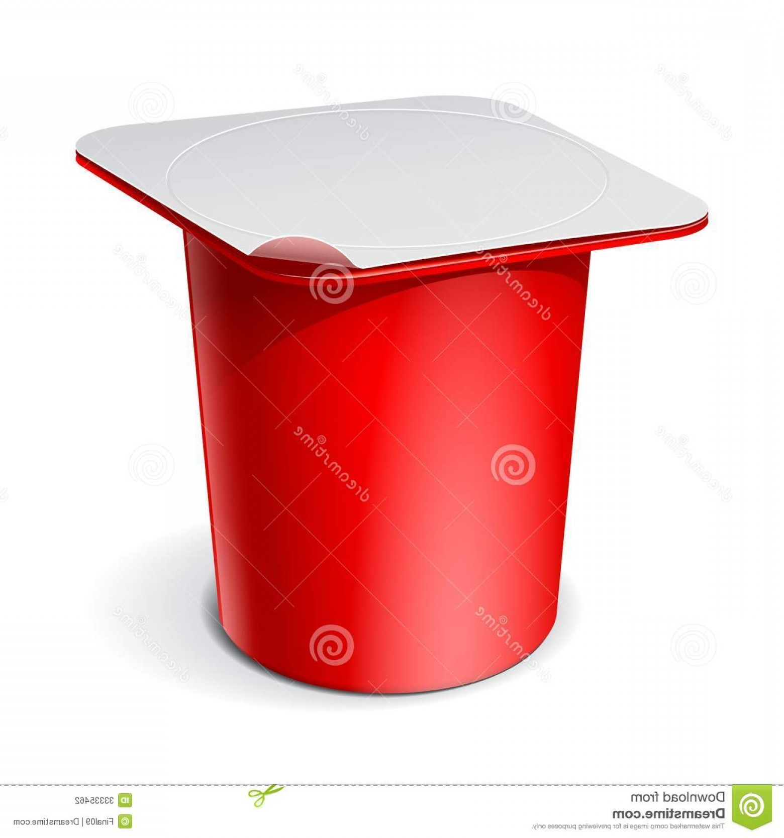 Yogurt Vector: Stock Photography Red Realistic Plastic Container Yogurt Vector Blank Jams Other Products Illustration Image