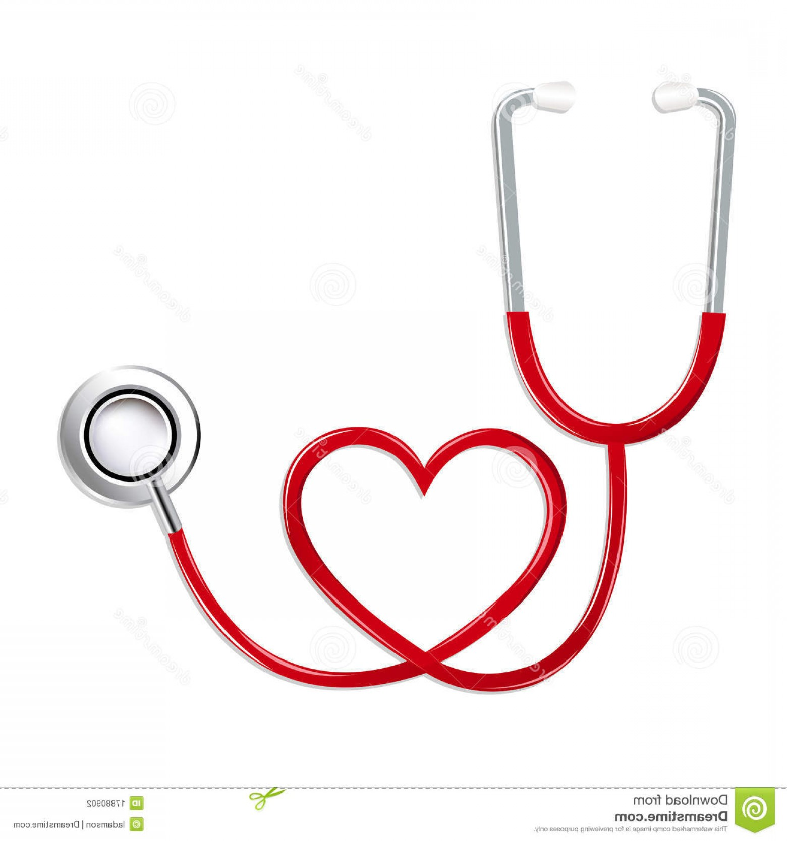 Stethoscope With Heart Vector Art: Stock Photography Stethoscope Shape Heart Vector Image