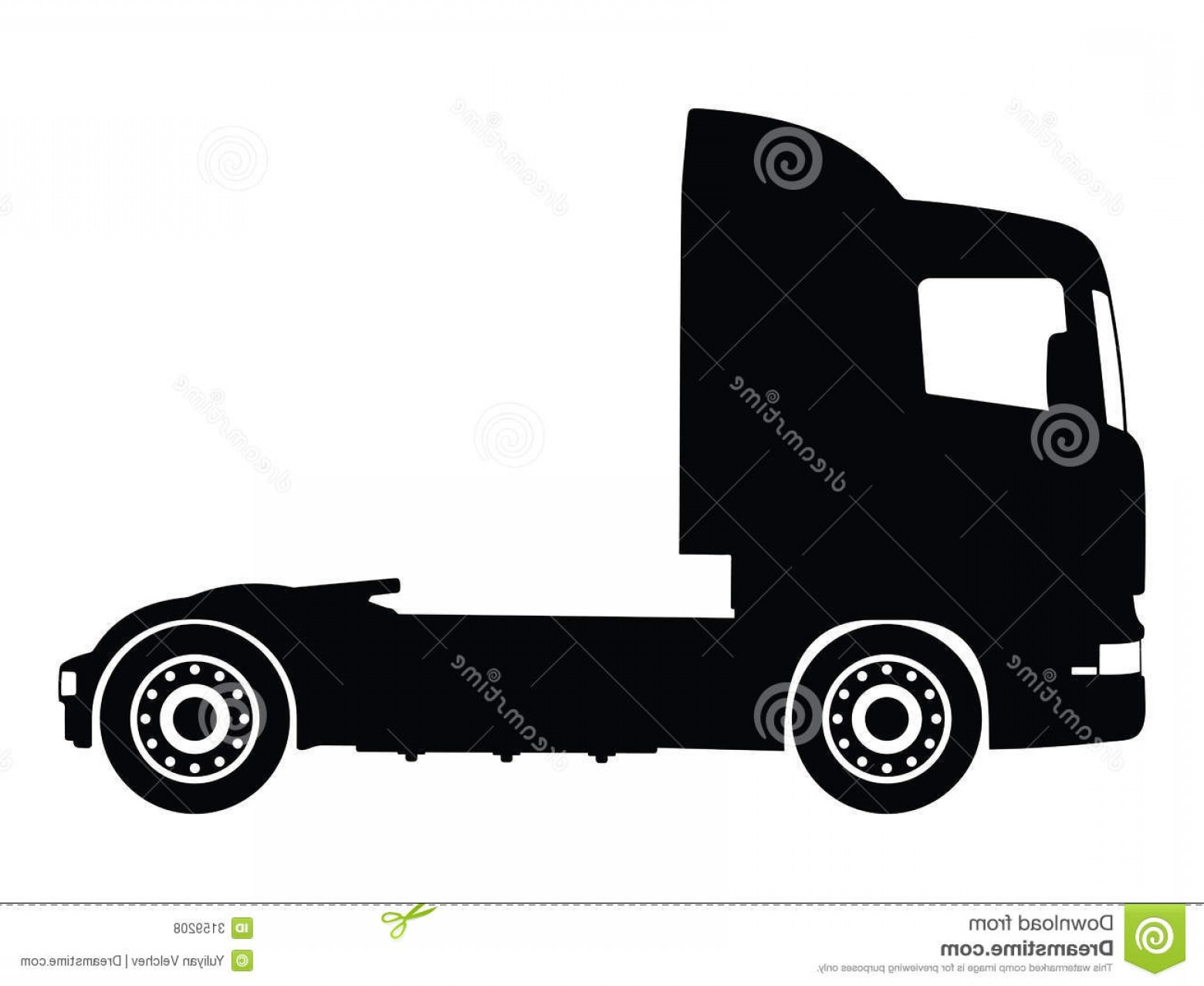 Vector Semi Tanker: Stock Photography Vector Cargo Semi Trucks Image