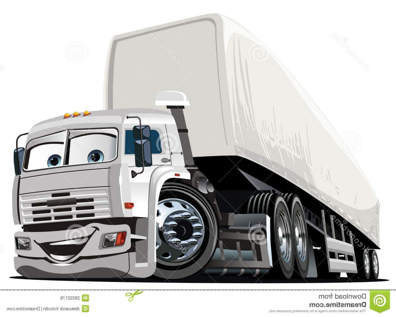 Vector Semi Tanker: Stock Photography Vector Cartoon Semi Truck Image