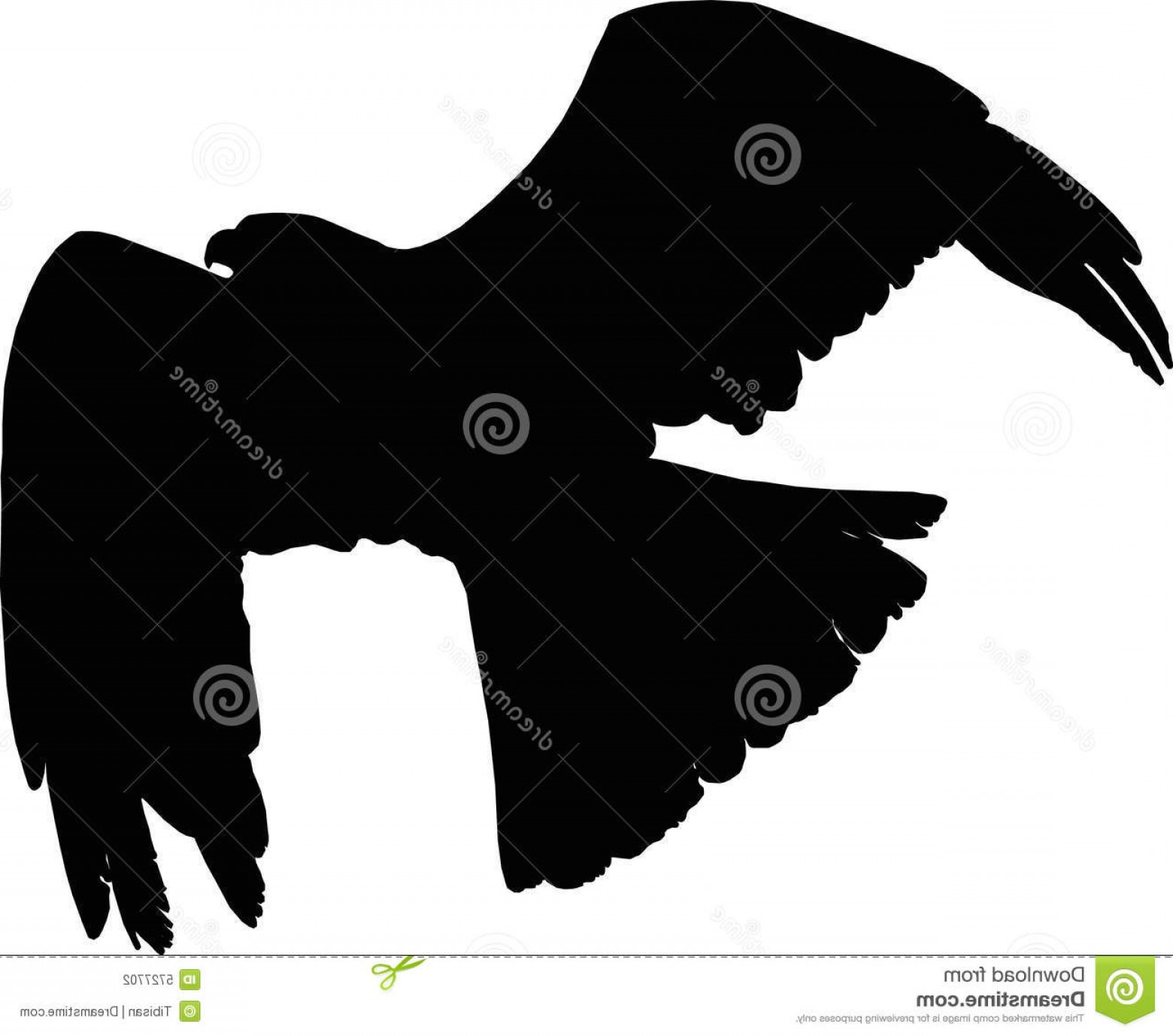 Falcon Silhouette Vector: Stock Photography Vector Flying Falcon Image