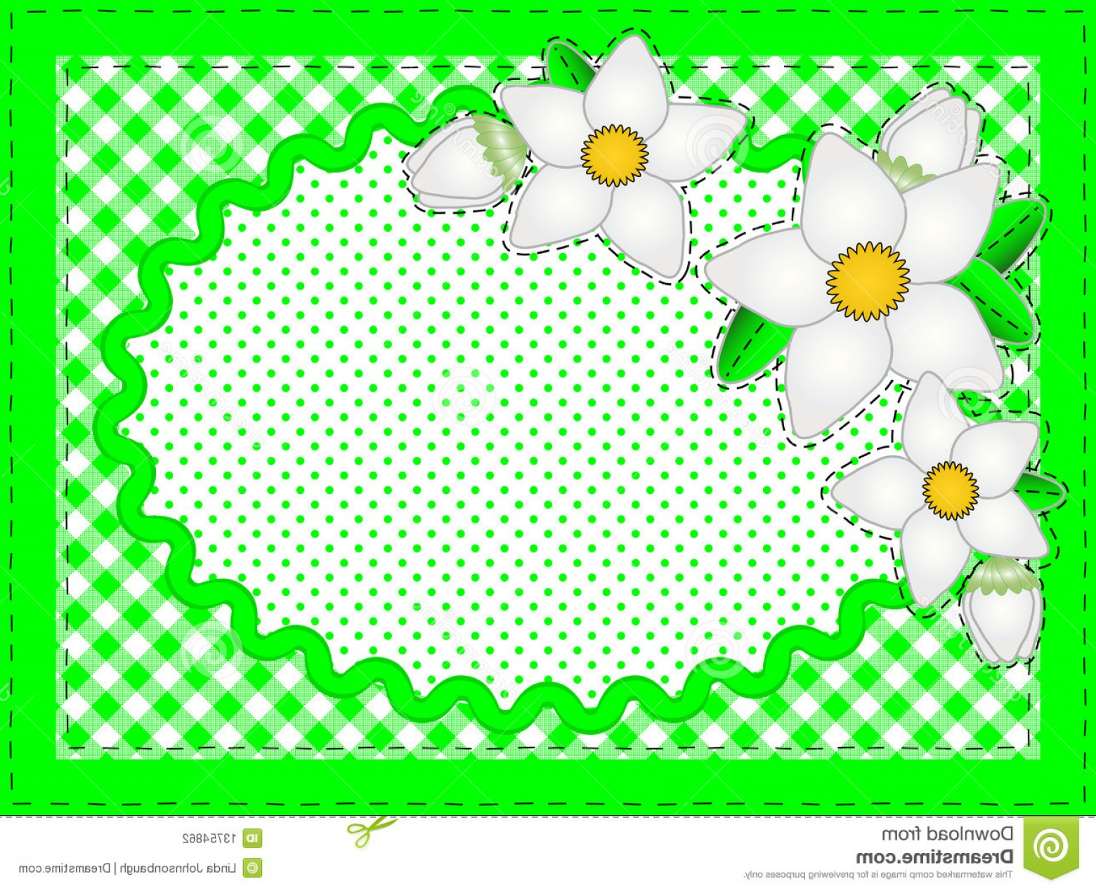 Green Oval Border Vector: Stock Photography Vector Oval Border Flowers Copy Space Image