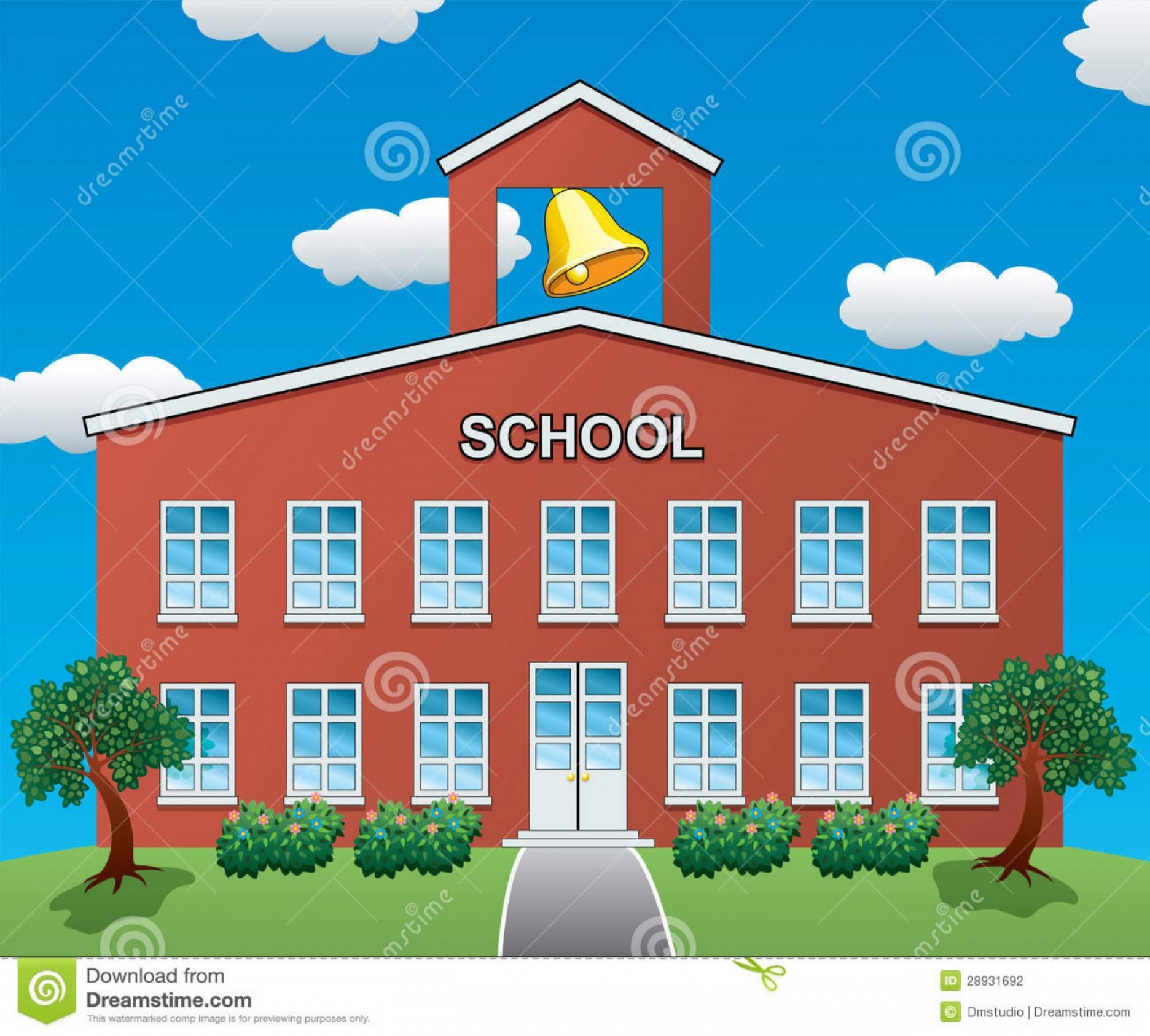 Vector Clip Art Red Schoolhouse: Stock Photography Vector School House Image