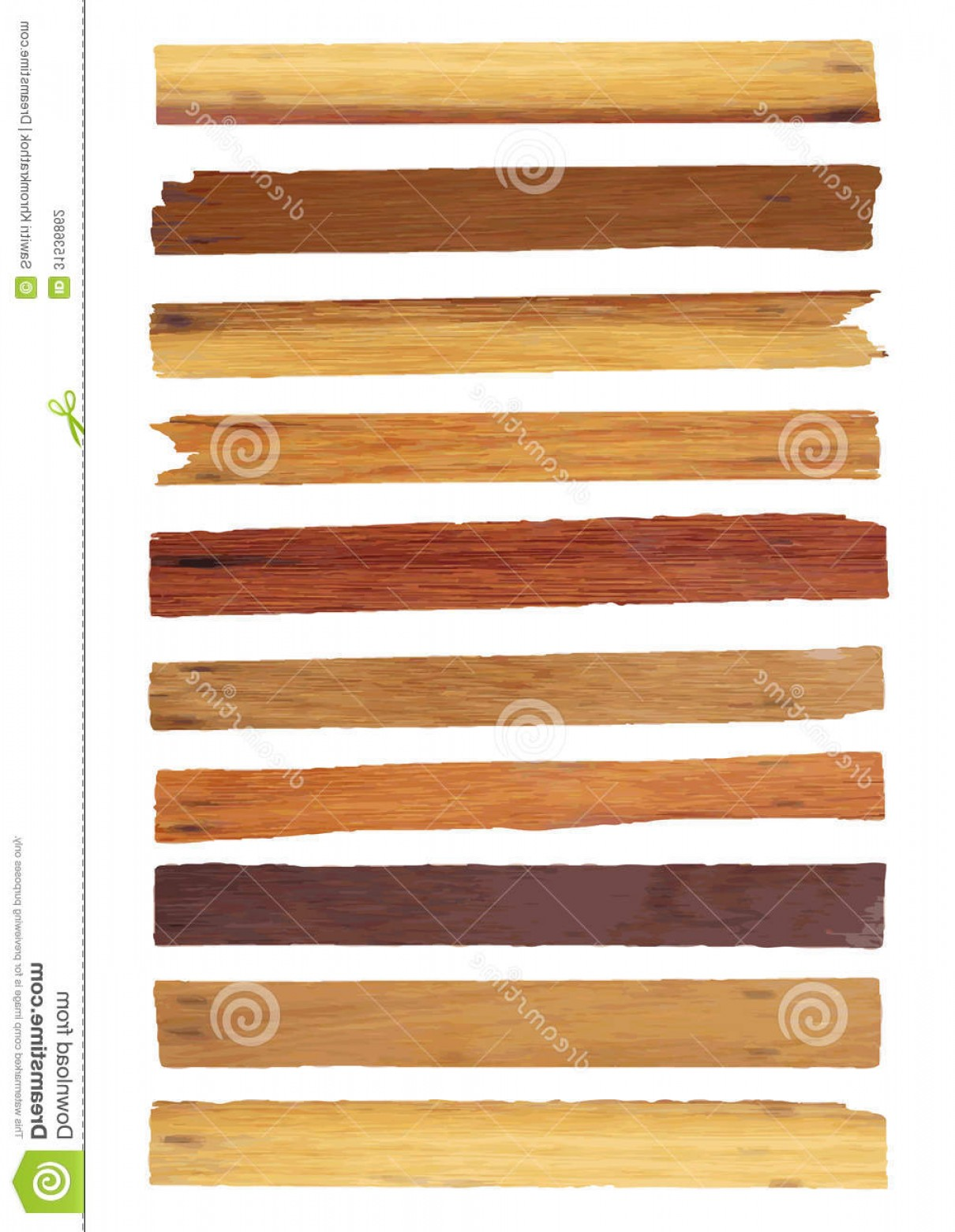 Wood Plank Vector Art: Stock Photography Vector Wood Plank Isolated White Old Background Illustration Image