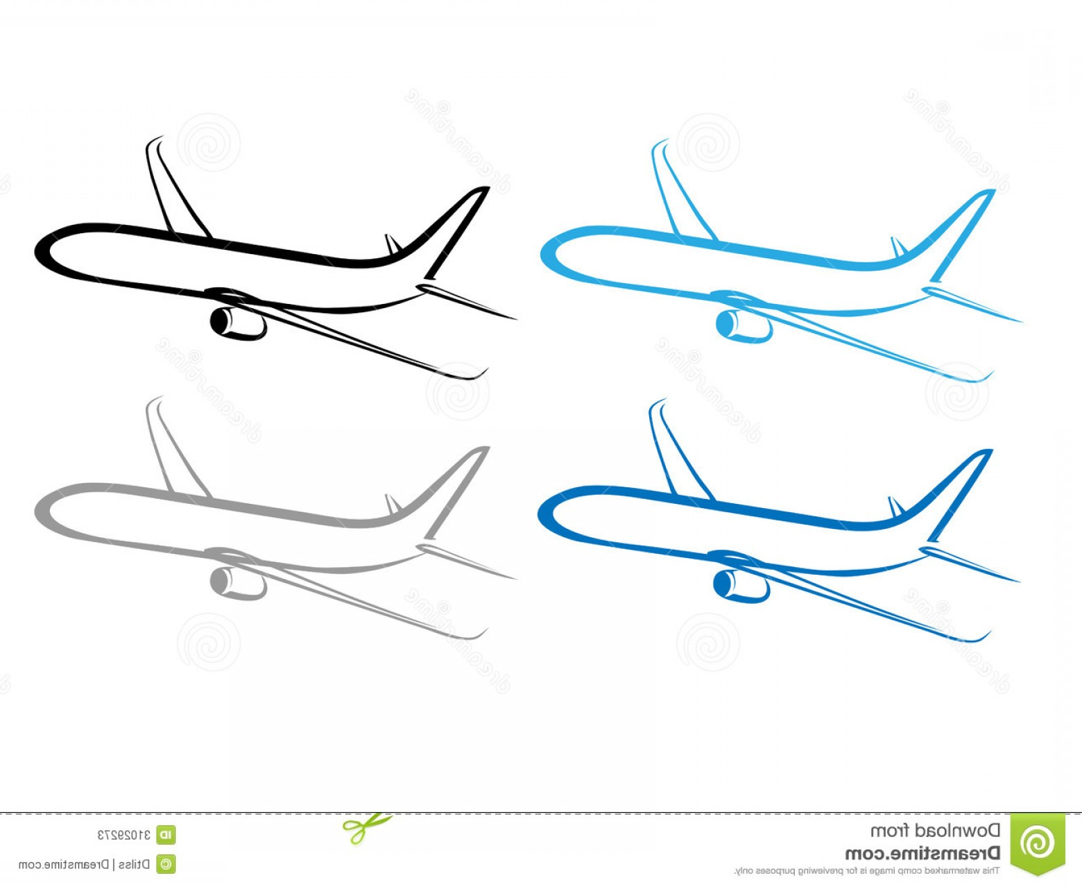 Vector Airplane Symbol: Stock Photos Airplane Plane Airplane Symbol Stylized Airplane Vector Flying Vector Design Image