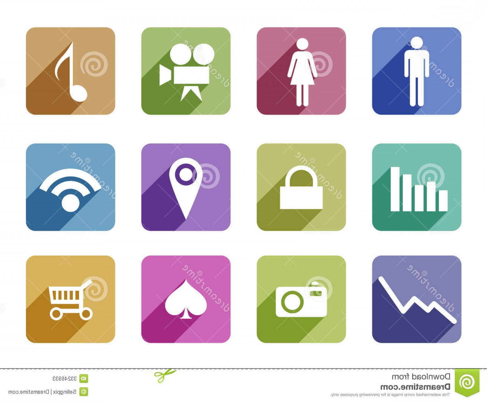 Vector Icons For Designers: Stock Photos Apps Flat Design Vector Icon Set Mobile Applicatio Templates Application Development Trendy Style Icons Creative Image