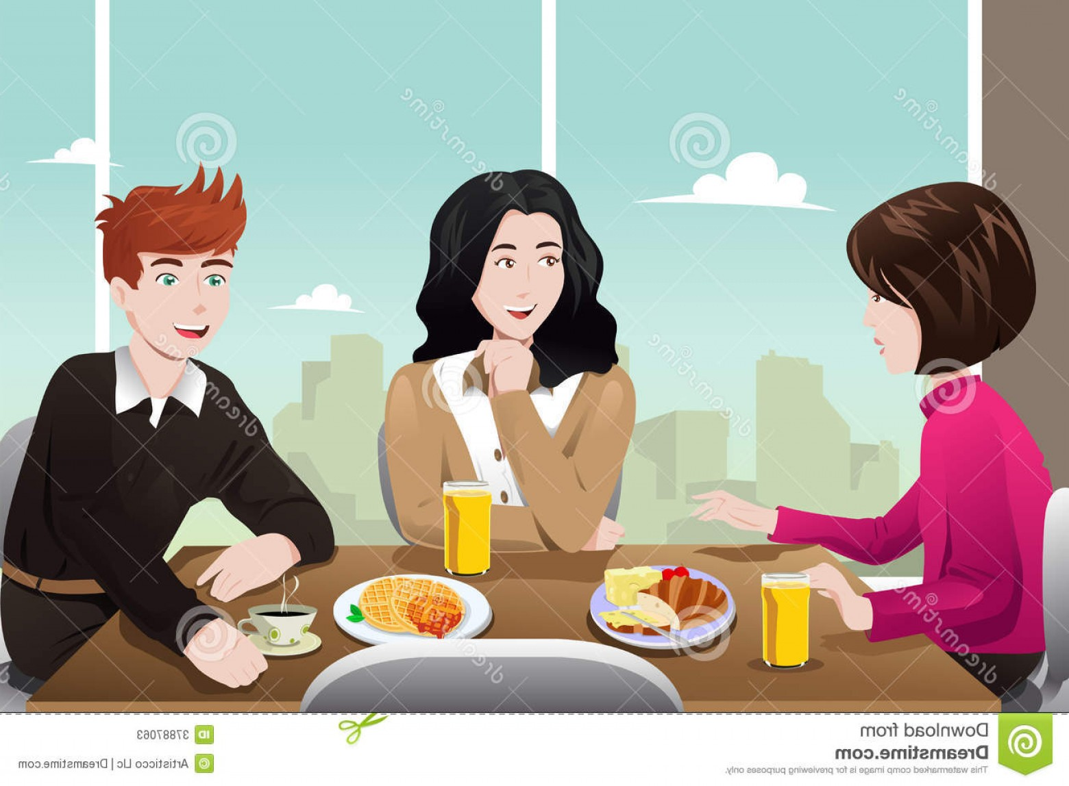 Business Lunch Clip Art Vector: Stock Photos Business People Eating Together Vector Illustration Businesspeople Cafeteria Image