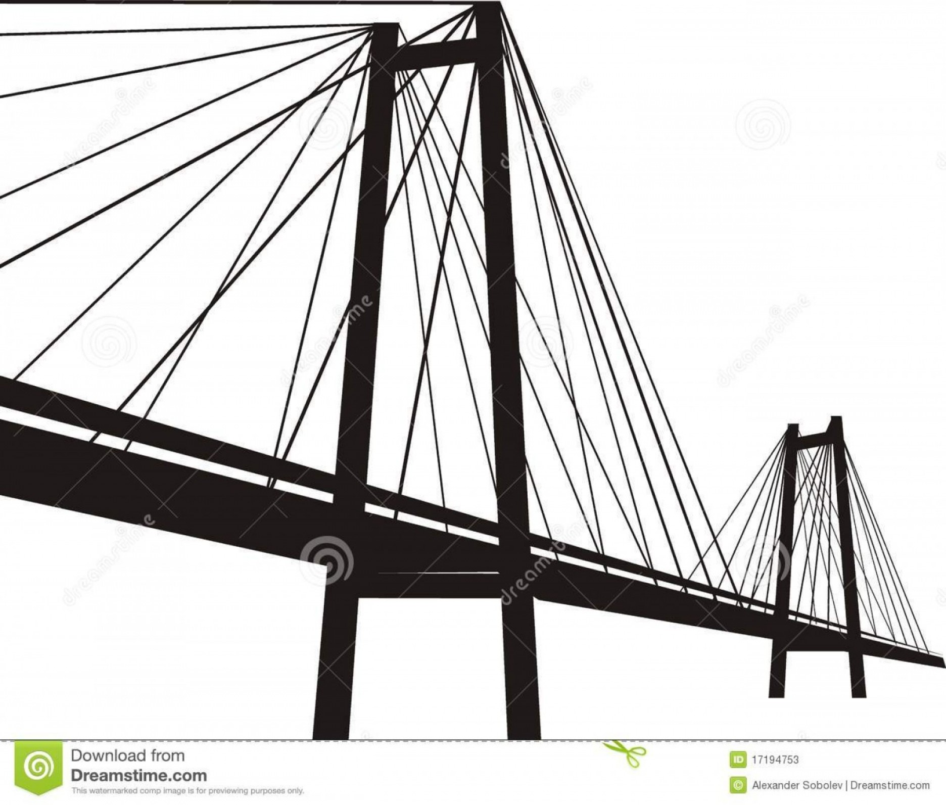 Suspension Bridge Vector: Stock Photos Cable Stayed Suspension Bridge Image
