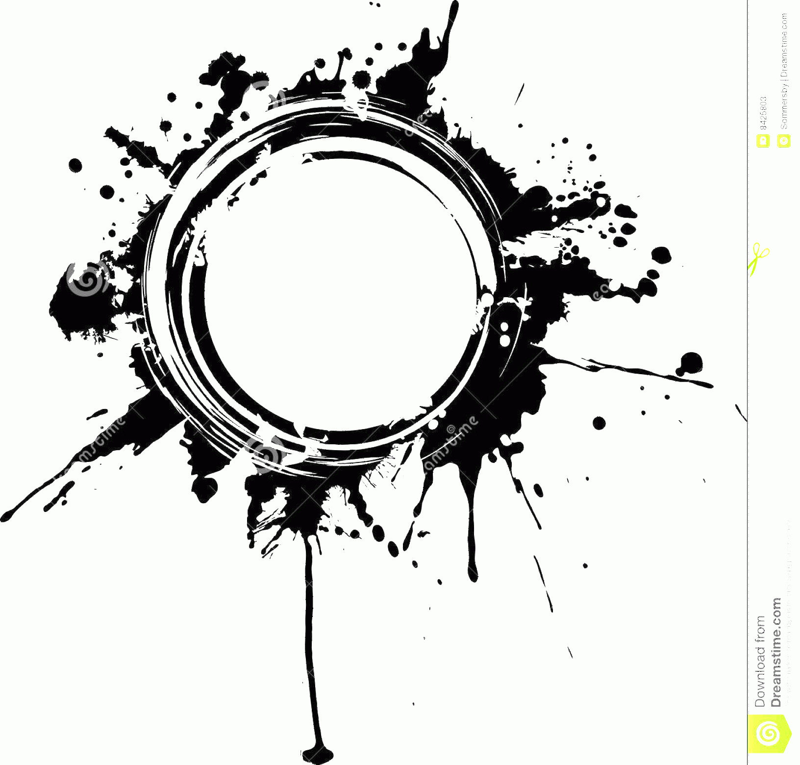 Distressed Border Circle Vector: Stock Photos Circular Grunge Frame Image