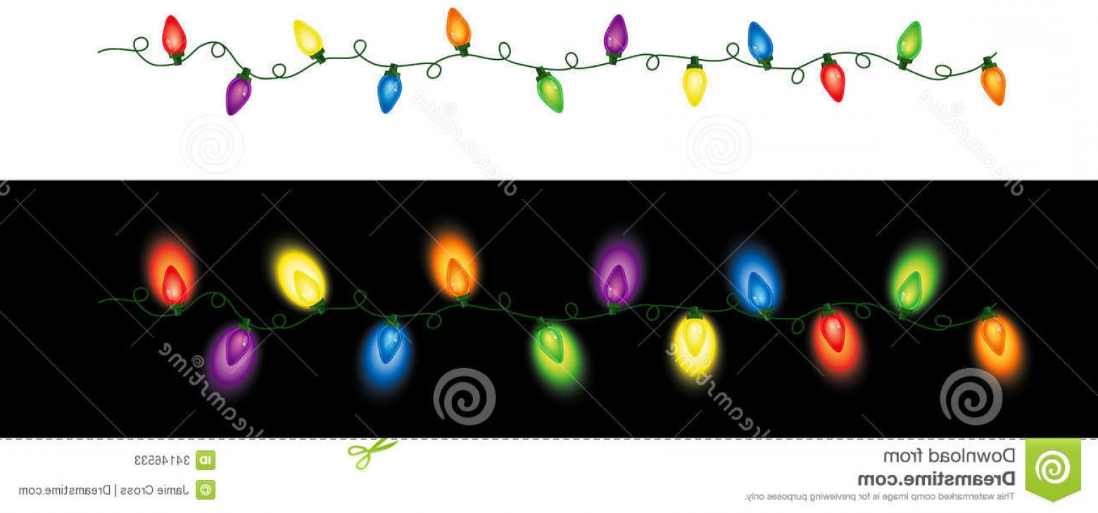 Christmas Light String Clip Art Vector: Stock Photos Colored Christmas Lights Repeating Series Holiday Seamless Pattern Image