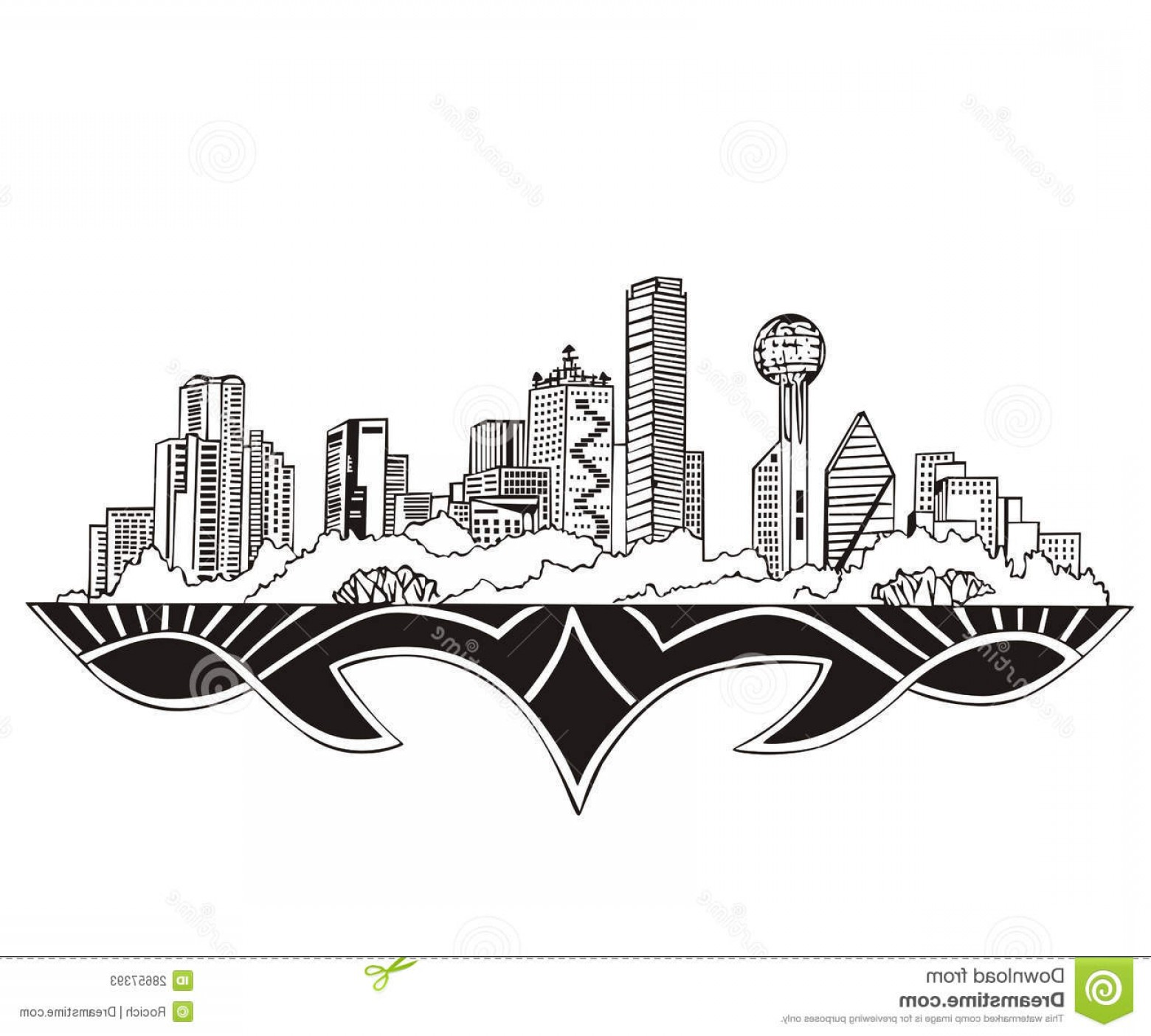 Texas Vector Drawing: Stock Photos Dallas Tx Skyline Image