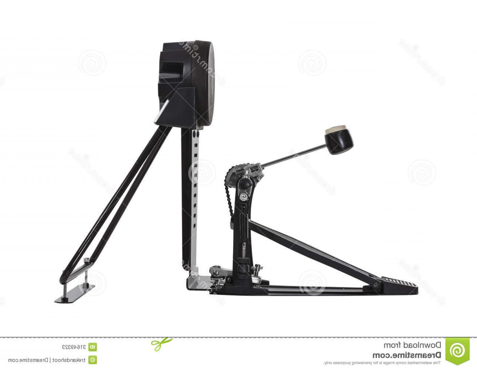 Vector Bass Drum Pedal: Stock Photos Electric Bass Drum Pedal Isolated Clipping Path Image