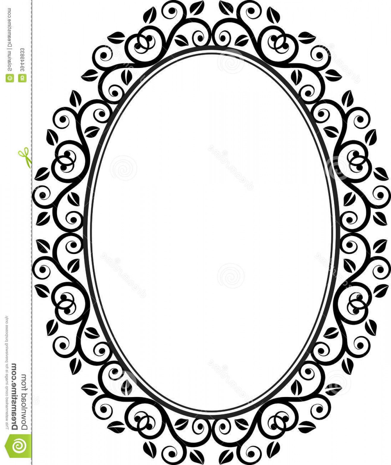 Filigree Oval Frame Vector: Stock Photos Floral Frame Oval Vector Illustration Image