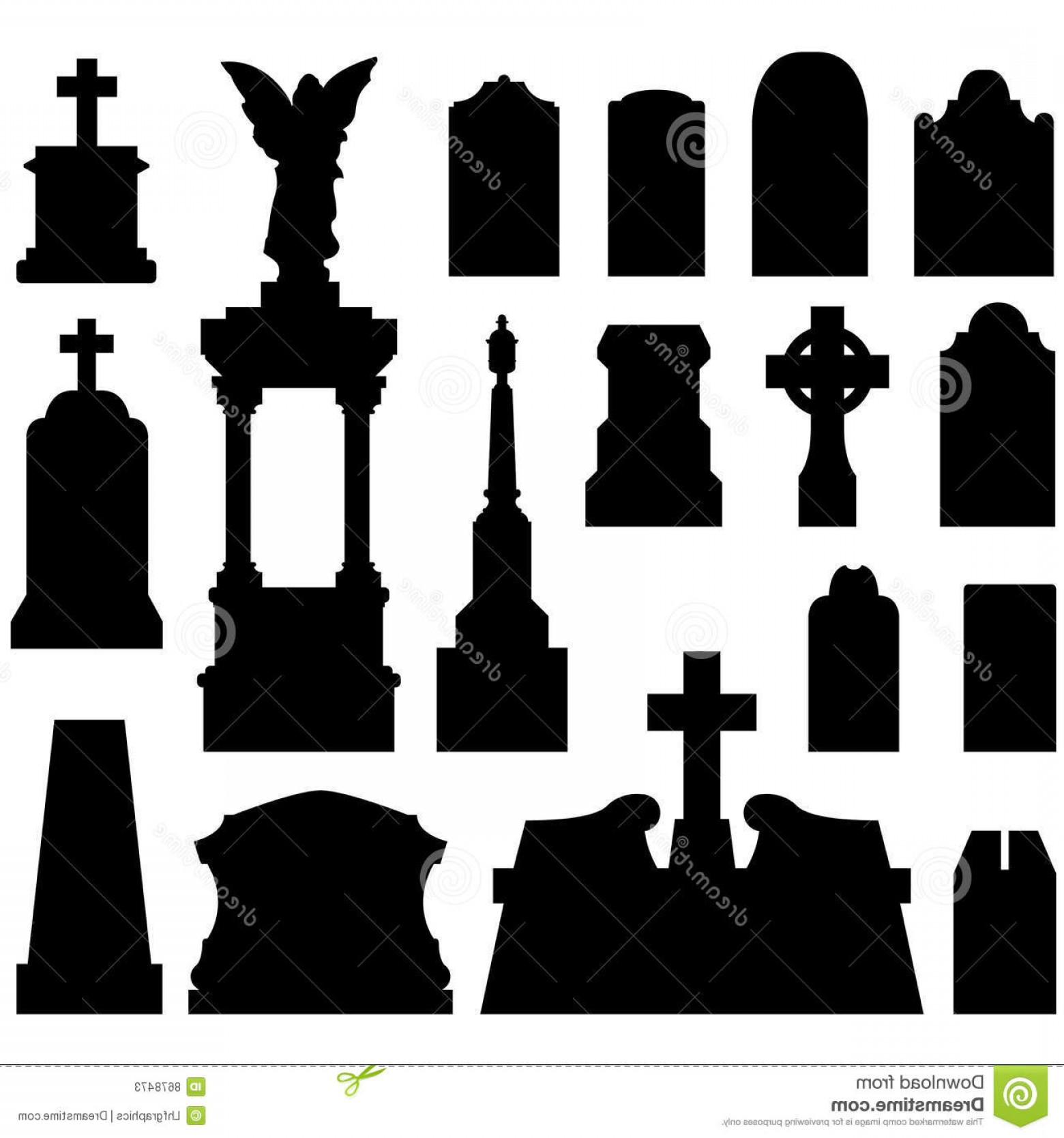 Gravestone Outline Vector: Stock Photos Headstones Gravestones Vector Image