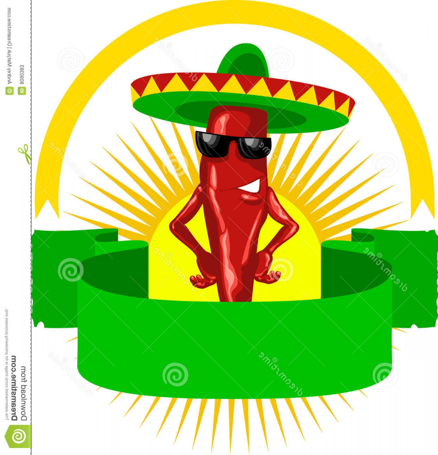 Vector Mexican Chili: Stock Photos Label Mexican Chili Image