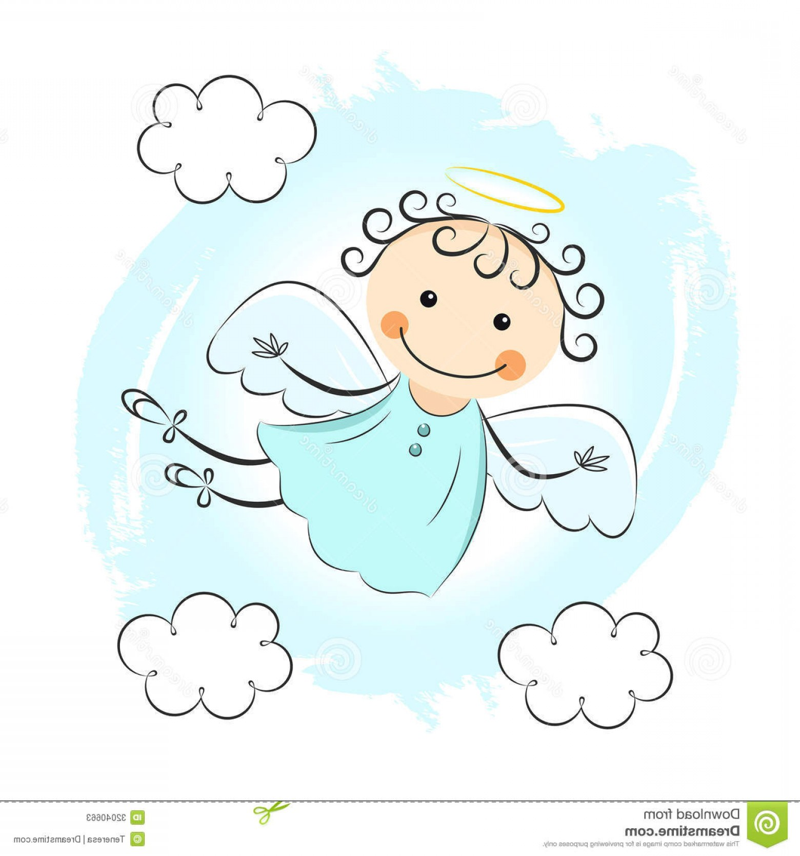 Little Angel Vector: Stock Photos Little Angel Editable Vector Illustration Image