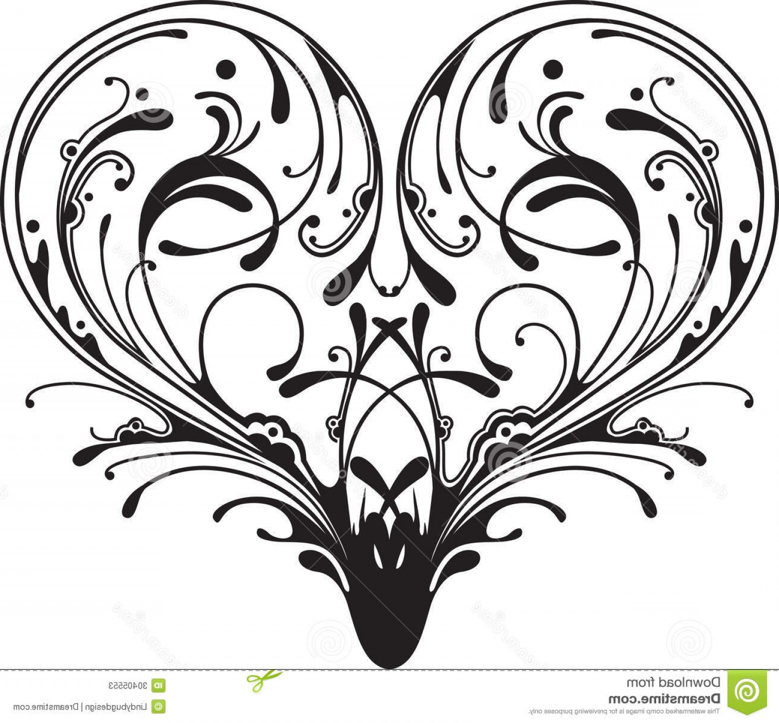 Vector Filigree Heart: Stock Photos Ornate Heart Filigree Made Many Swirly Shapes Image
