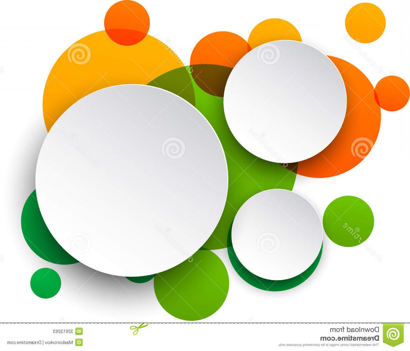 Vector Bubbles Circle: Stock Photos Paper White Round Speech Bubbles Vector Illustration Over Colorful Background Eps Image