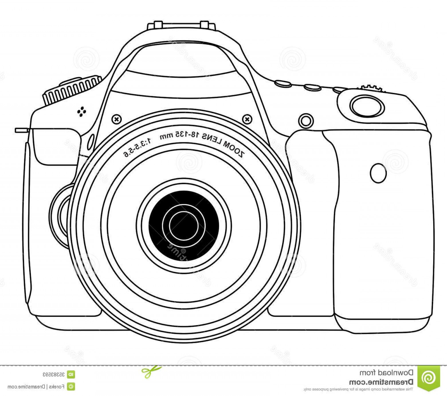 Camera Outline Vector Graphic: Stock Photos Photo Camera Outline View Isolated Image
