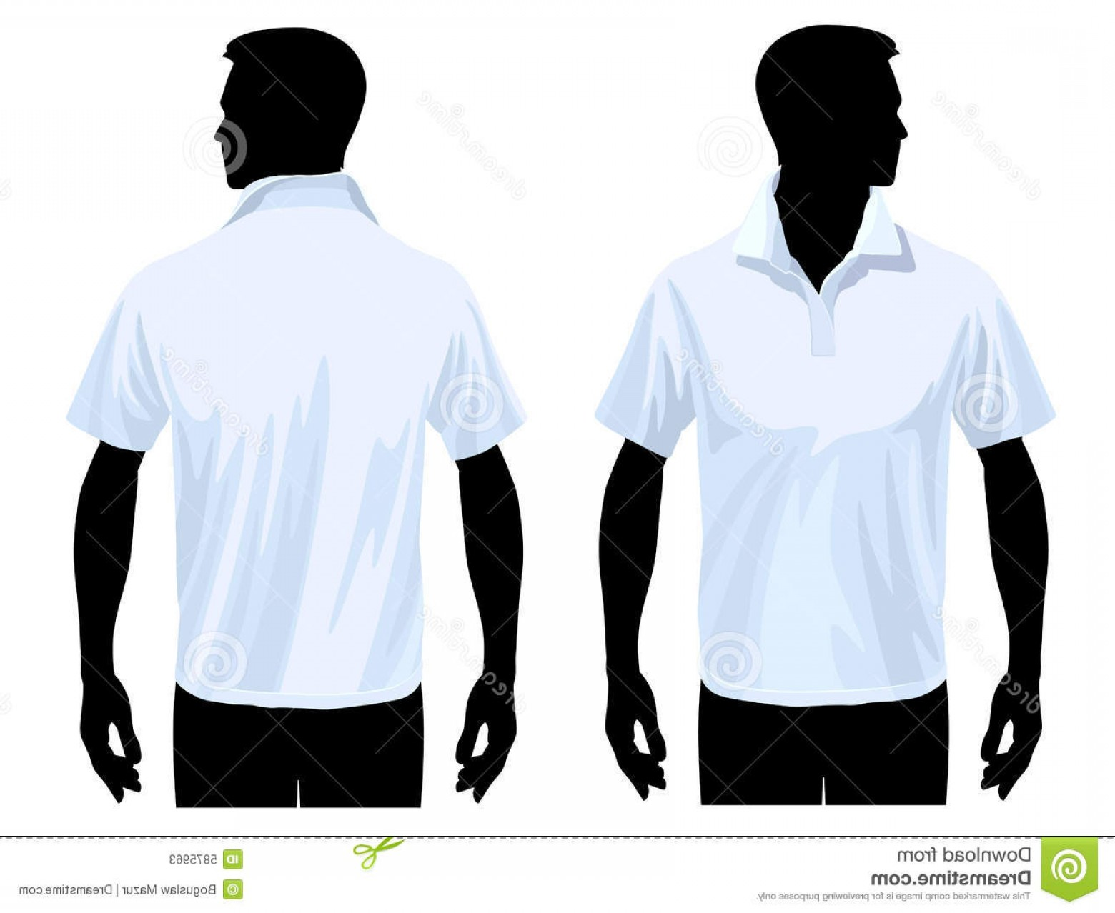 Vector Pocket Silhouette Shirt: Stock Photos Polo Shirt Template Image