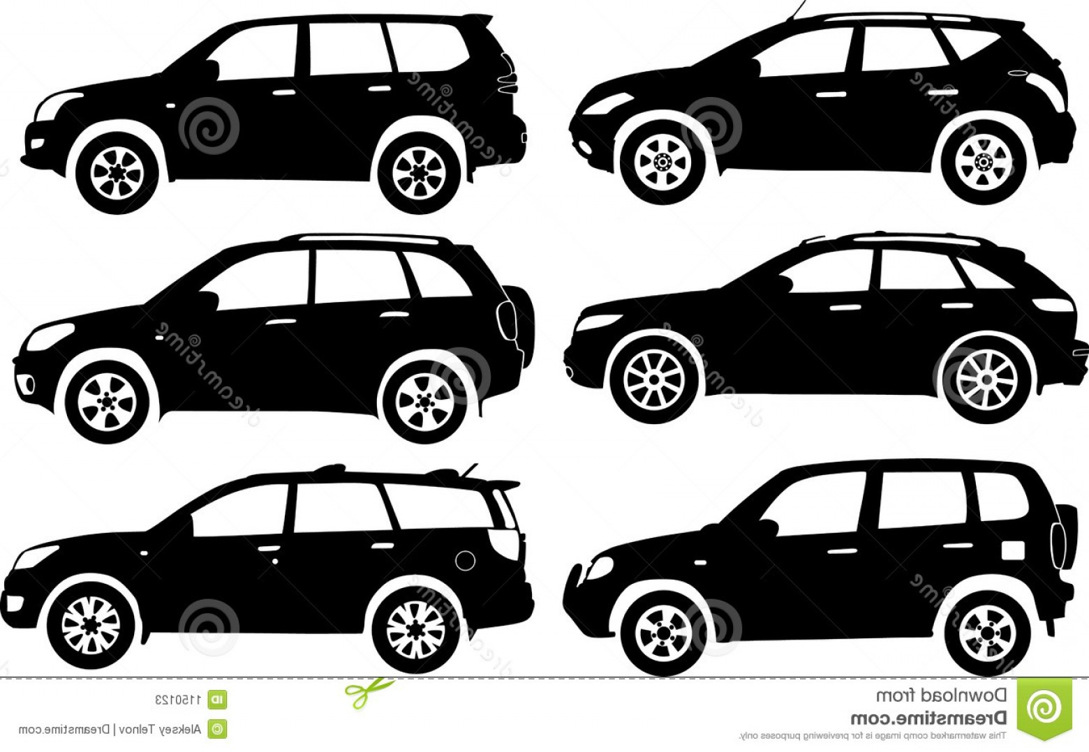Car Vector Front Elevation: Stock Photos Silhouette Cars Vector Image