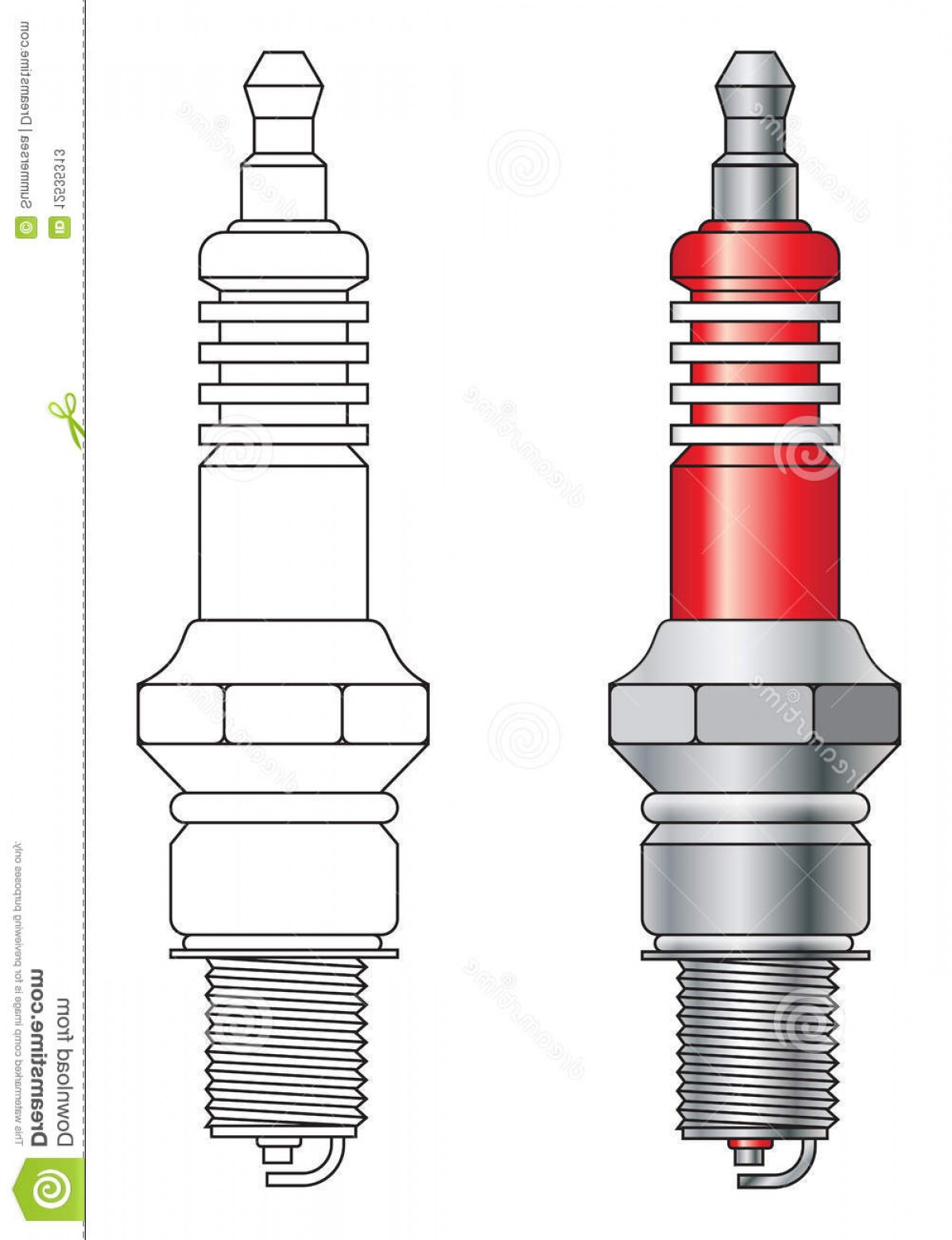 Spark Plug Vector: Stock Photos Spark Plug Vector Image