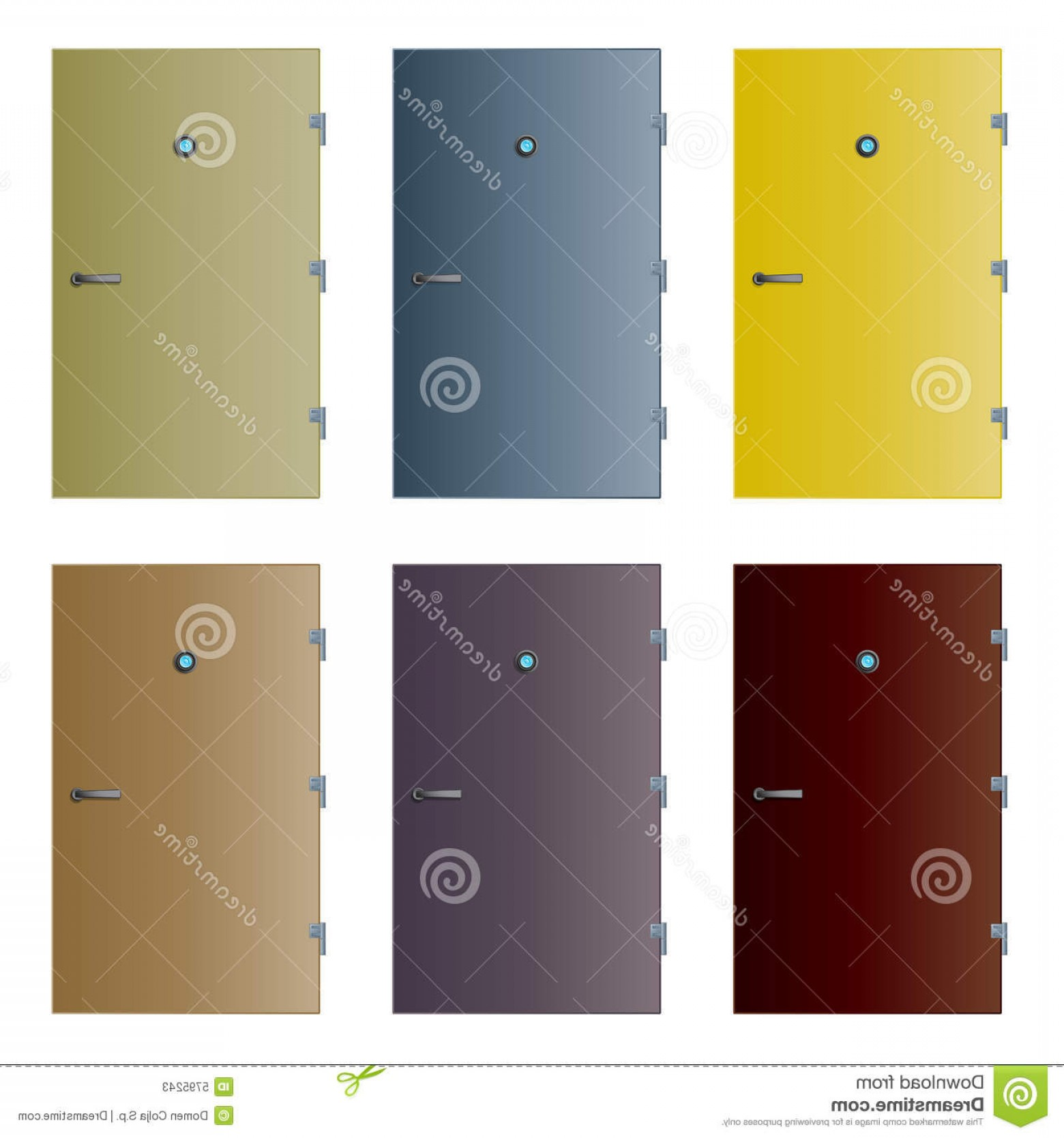 Vector Hinge Western: Stock Photos Various Isolated Detailed Vector Doors Image