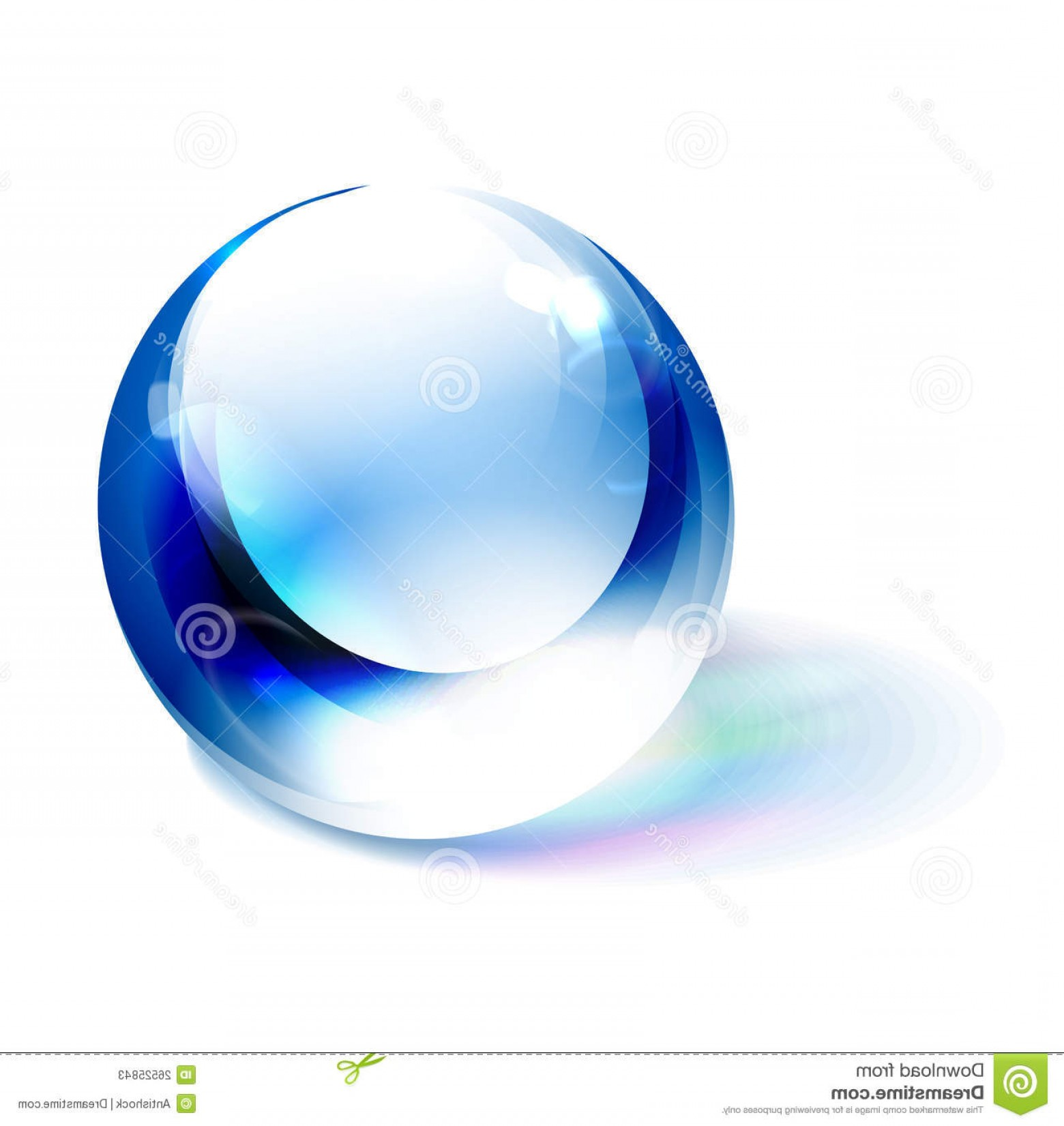 Vector Sphere Marble: Stock Photos Vector Blue Shiny Sphere Image
