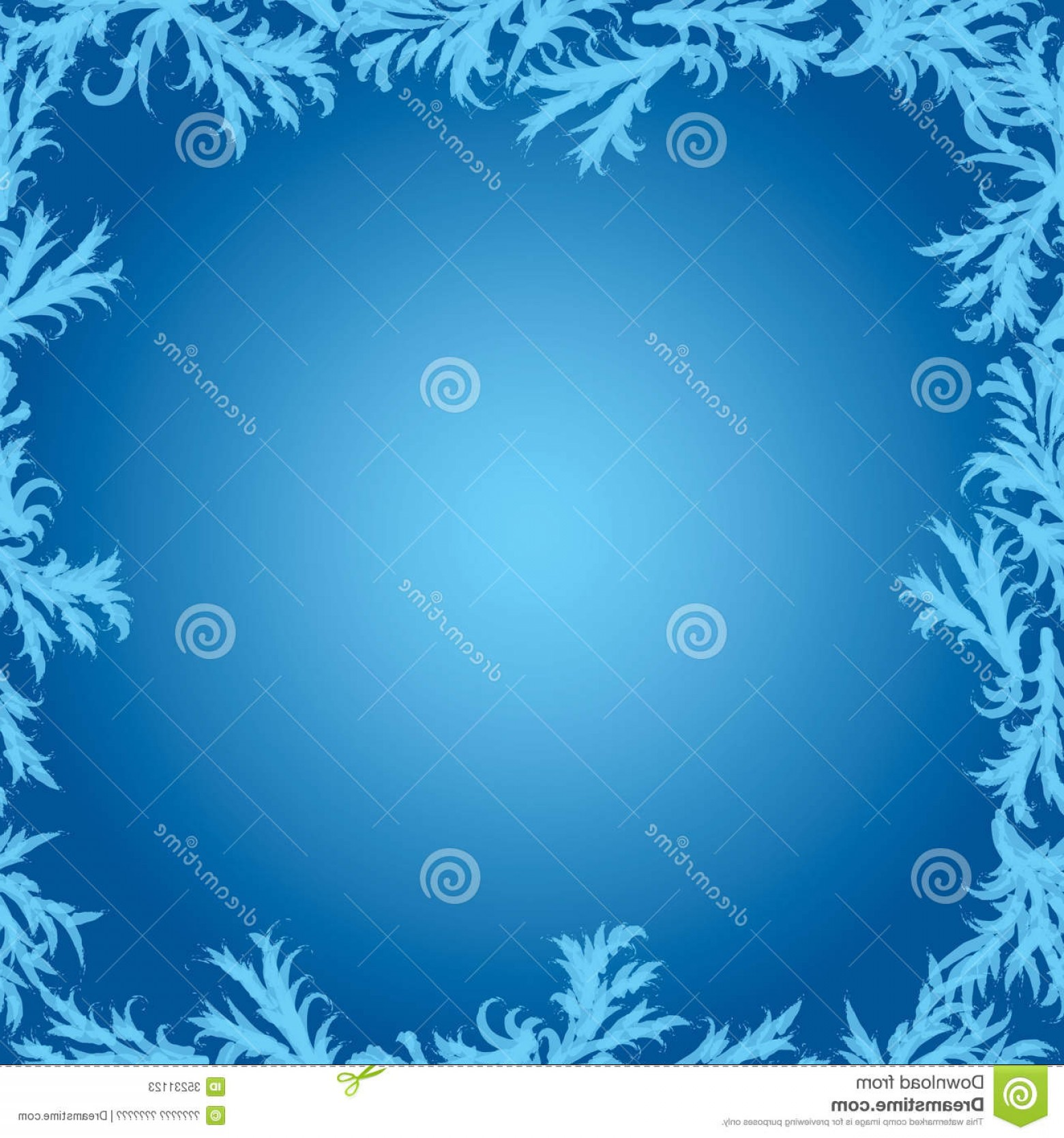 Frost Border Vector: Stock Photos Vector Frame Frost Patterns Glass Frosty Image