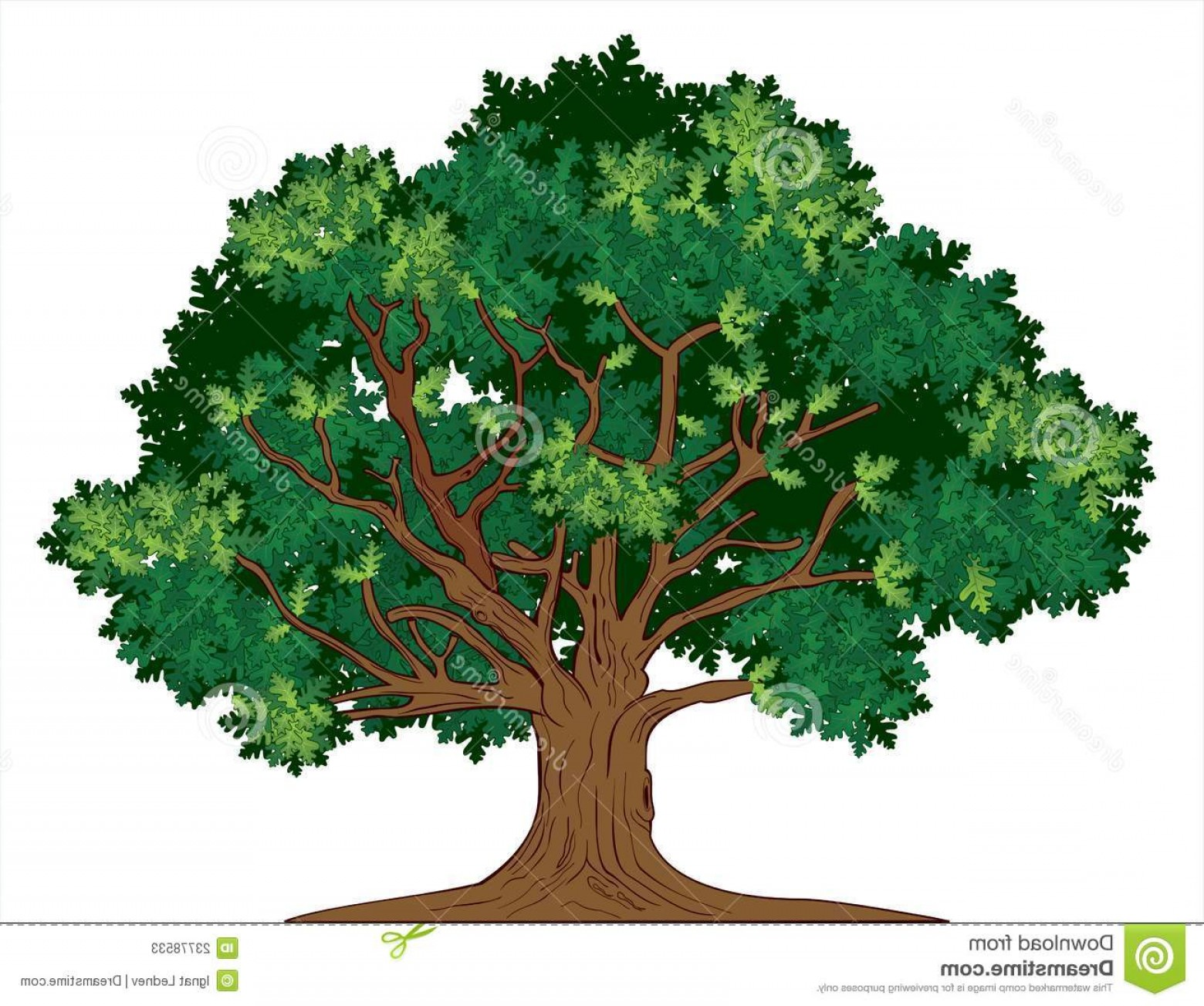Oak Tree Silhouette Vector Graphics: Stock Photos Vector Oak Tree Image