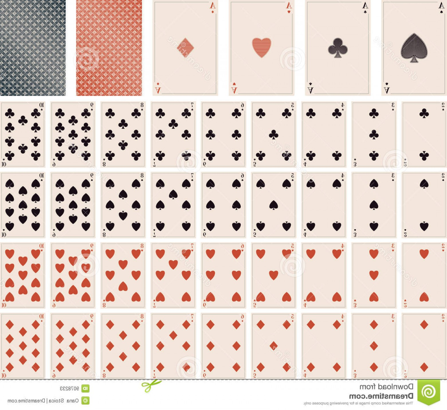 10 Playing Card Vector: Stock Photos Vector Playing Cards To Image